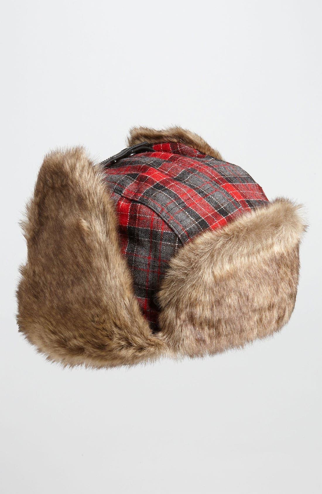 Alternate Image 2  - Ted Baker London Plaid Faux Fur Trapper Hat