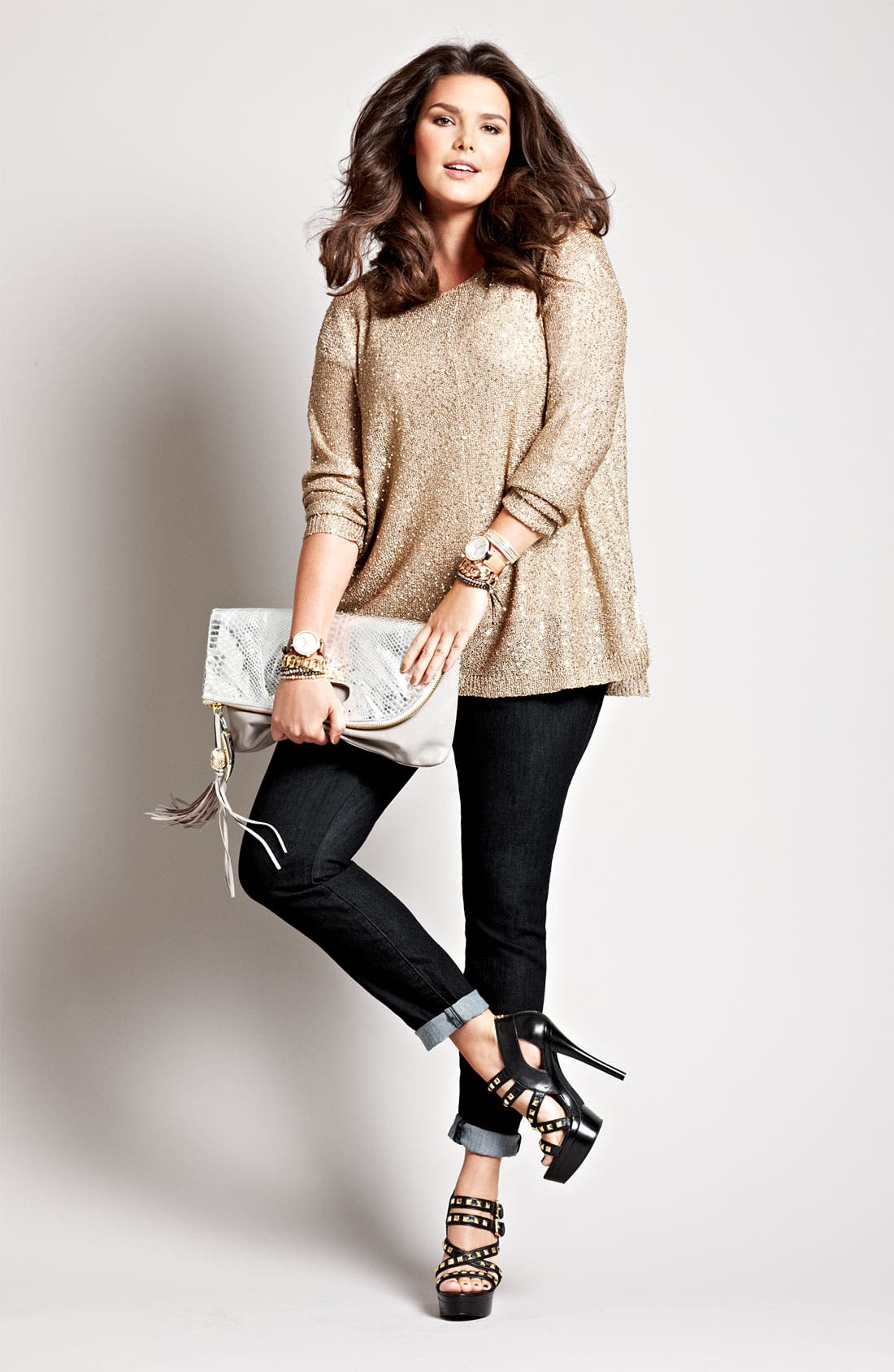 Main Image - DKNYC Top & Lucky Brand Leggings