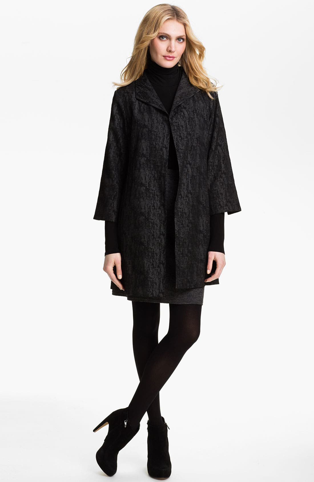 Alternate Image 4  - Eileen Fisher Jacquard Coat (Online Exclusive)