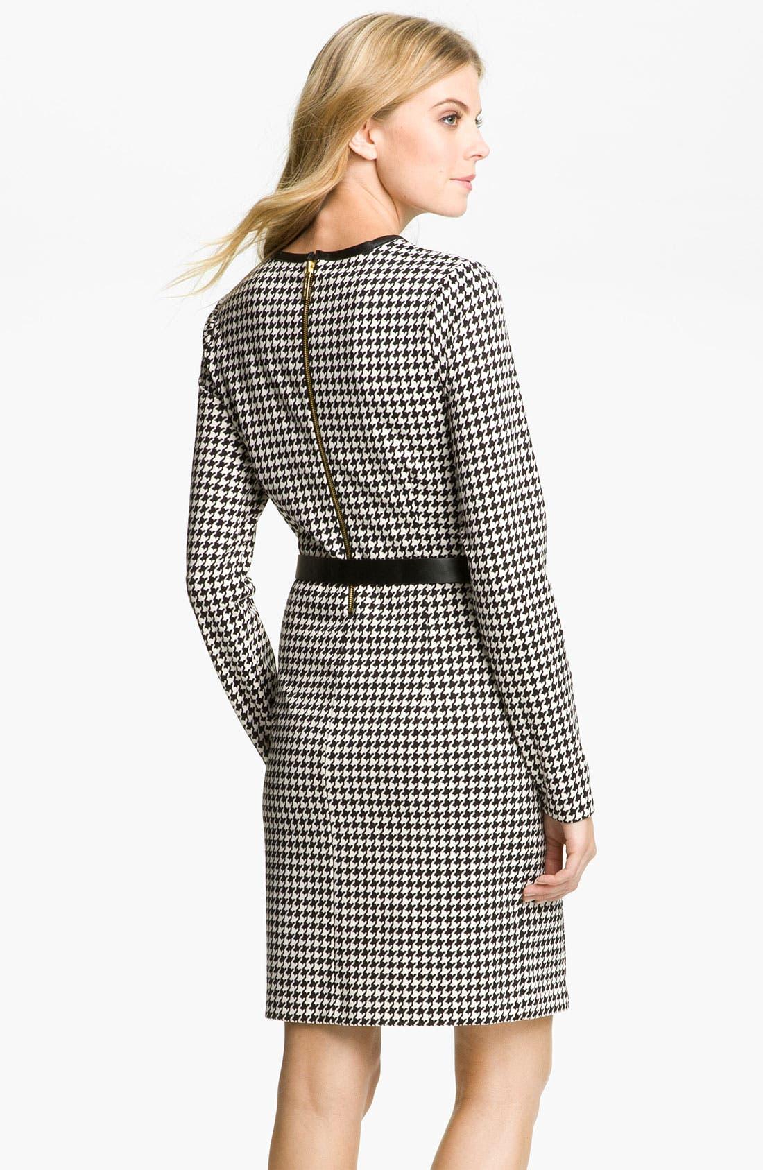 Alternate Image 2  - MICHAEL Michael Kors Leather Trim Dress (Petite)