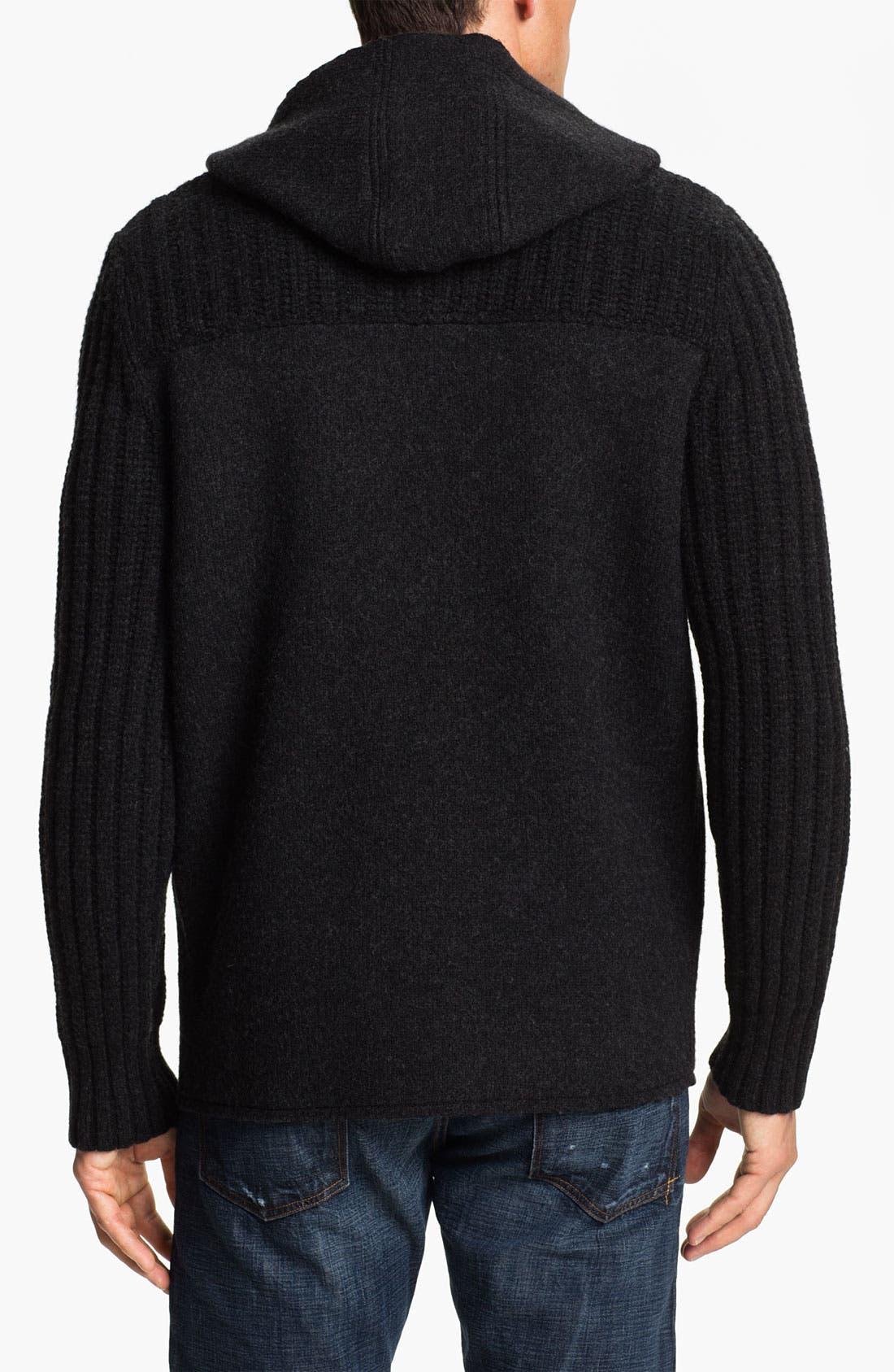 Alternate Image 2  - BOSS Orange 'Kristen' Wool Hooded Sweater