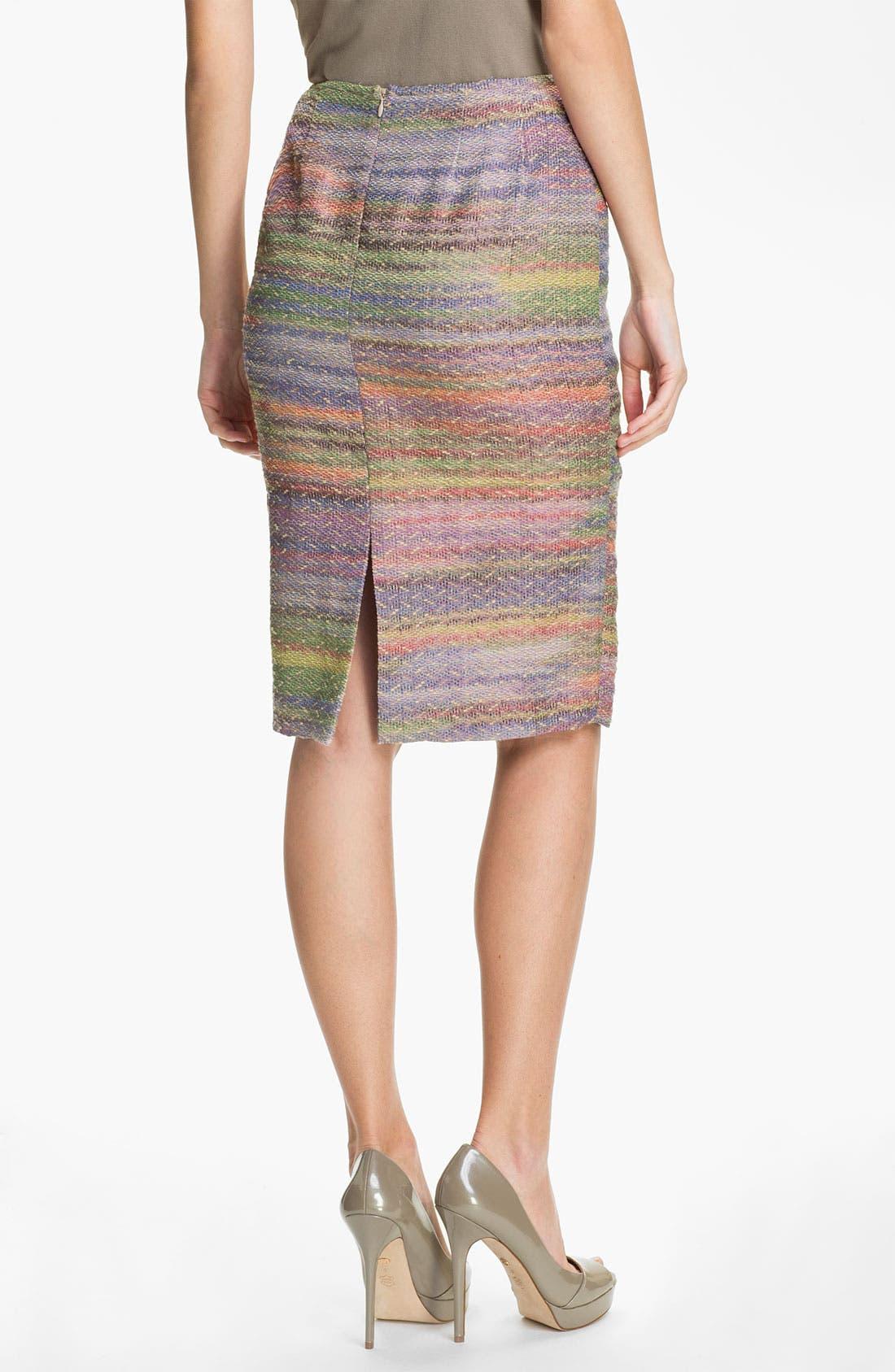 Alternate Image 2  - Lafayette 148 New York 'Fete Novelty' Slim Skirt