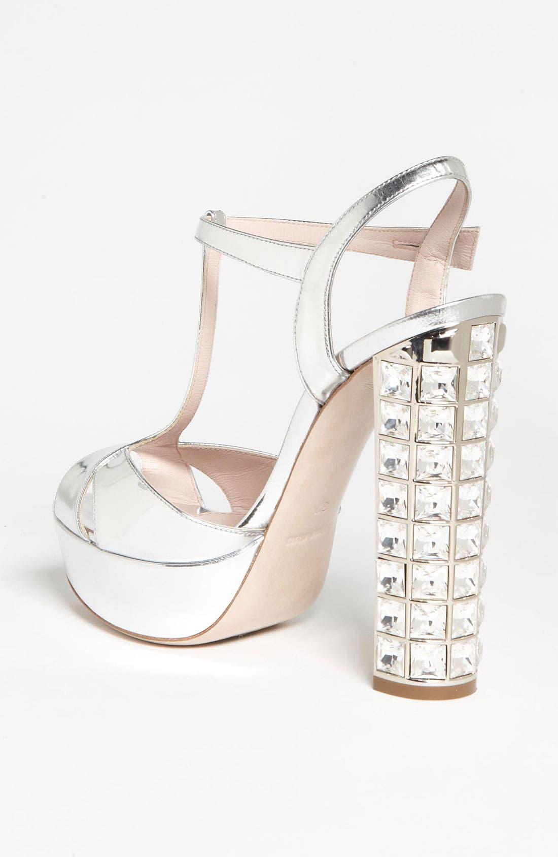 Alternate Image 2  - Miu Miu Crystal Heel Sandal