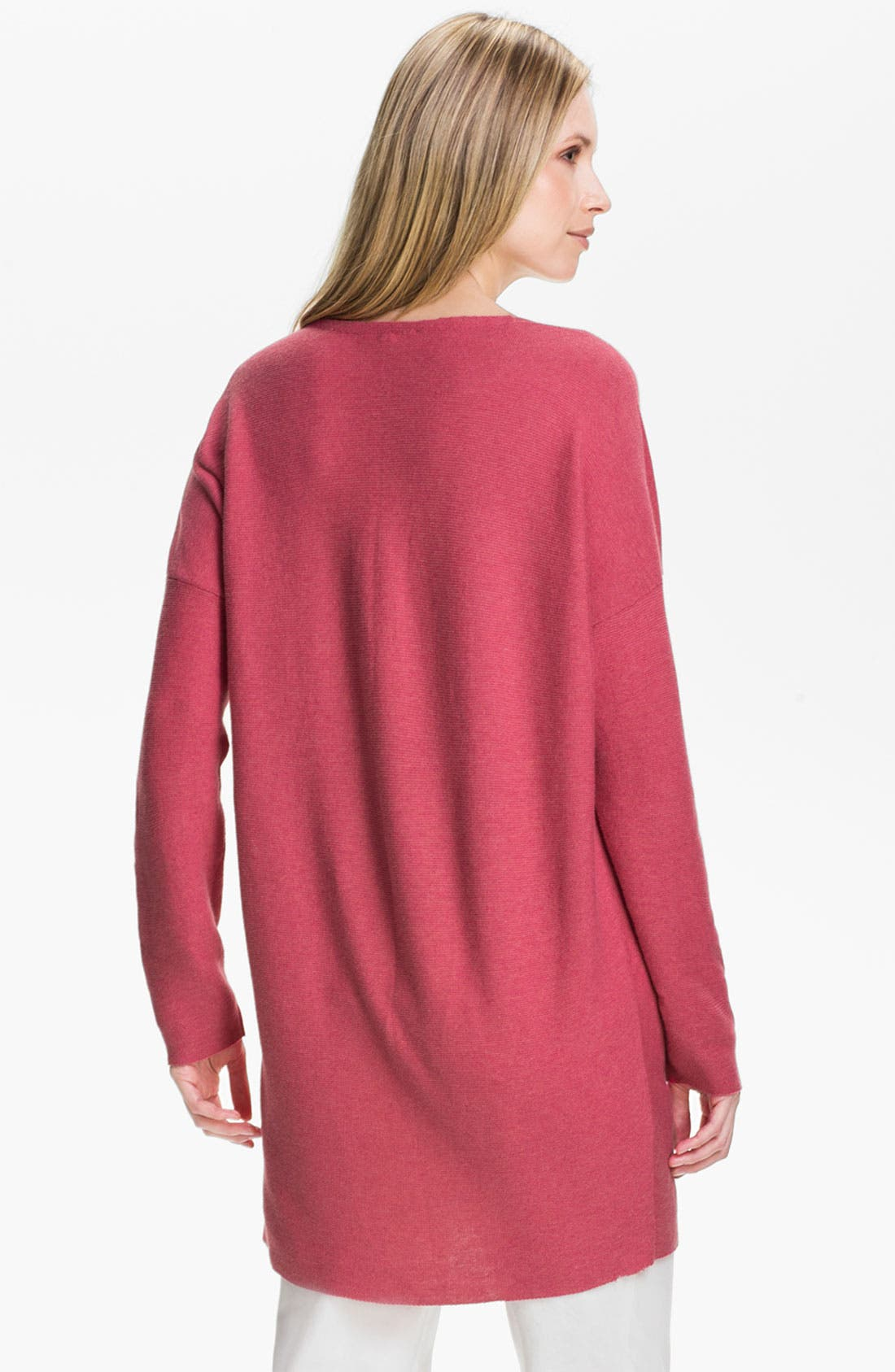 Alternate Image 2  - Eileen Fisher V-Neck Tunic Sweater (Online Exclusive)