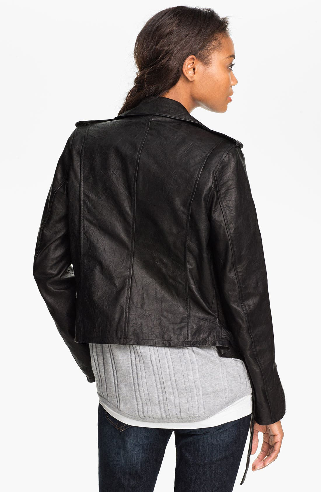 Alternate Image 2  - Two by Vince Camuto Leather Jacket