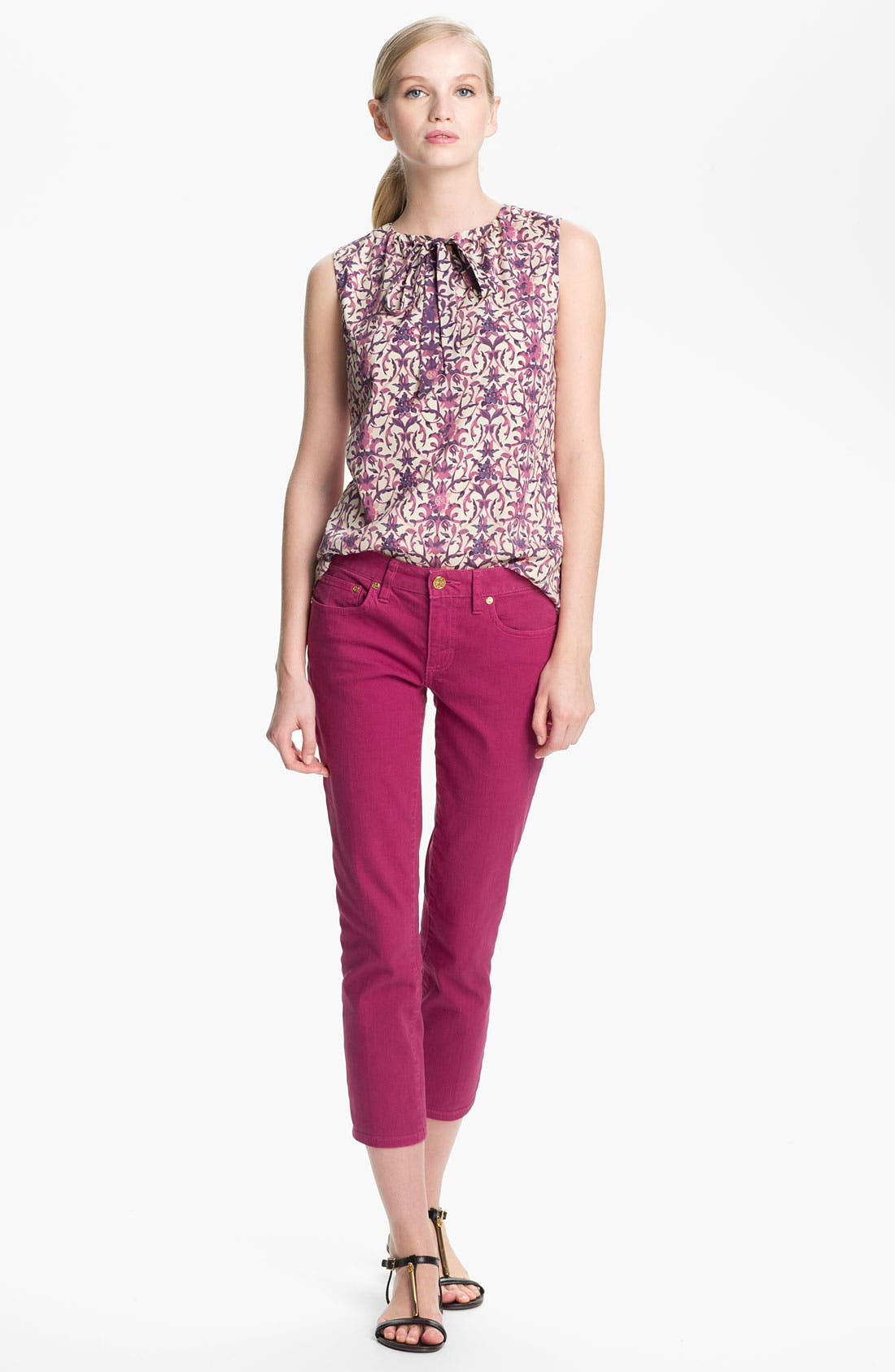 Alternate Image 2  - Tory Burch 'Alexia' Crop Skinny Stretch Jeans