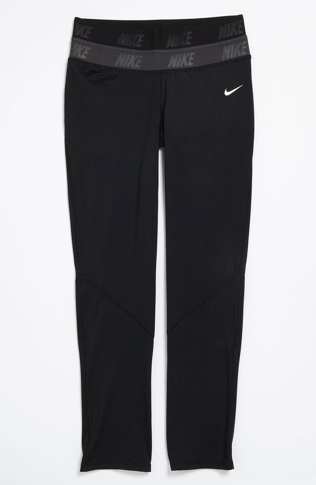 Alternate Image 1 Selected - Nike Pro 'Hyperwarm' Compression Tights (Big Girls)
