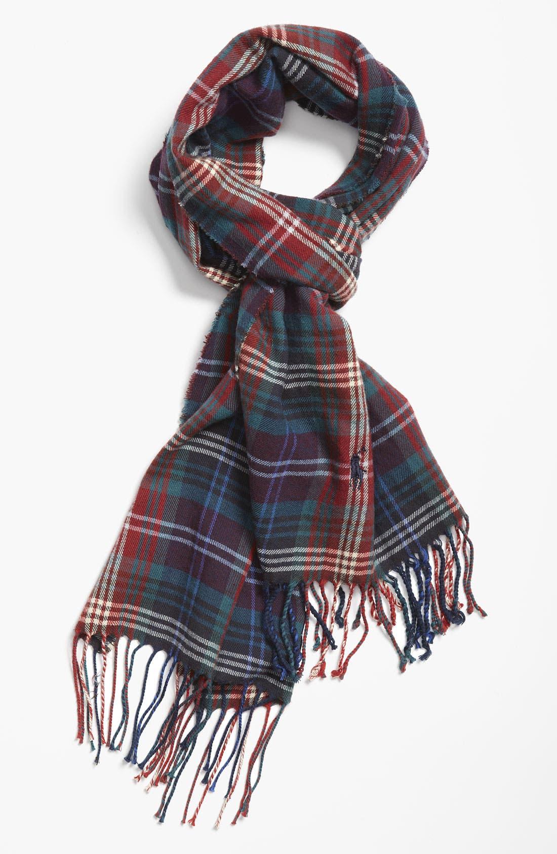 Alternate Image 1 Selected - Polo Ralph Lauren Plaid Cotton Scarf