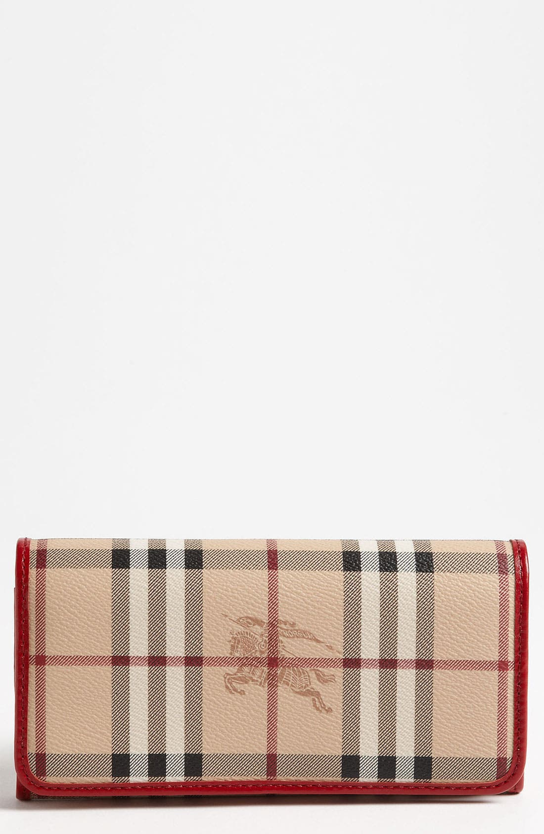 Main Image - Burberry 'Haymarket Check' Flap Wallet