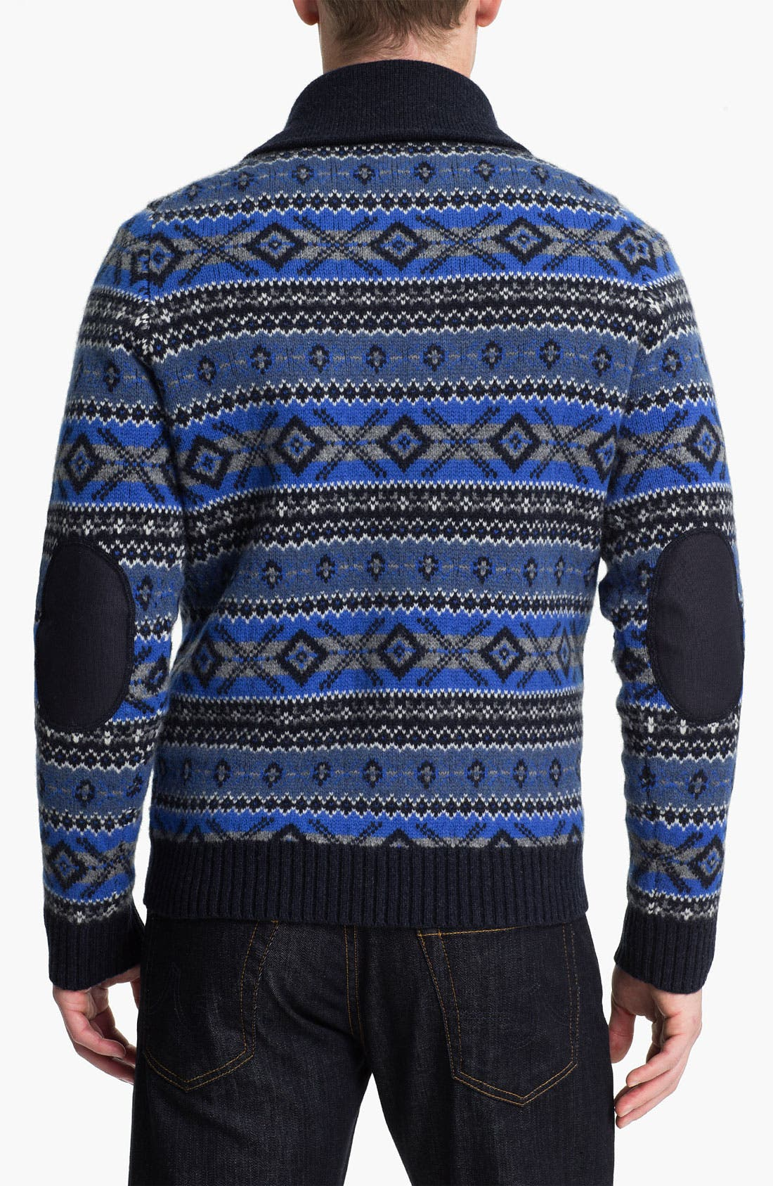 Alternate Image 2  - Brooks Brothers Shawl Collar Wool Sweater