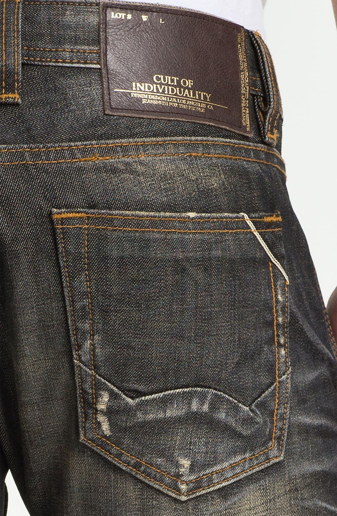 Alternate Image 4  - Cult of Individuality 'Hagen' Straight Leg Jeans (18-Month Brown)