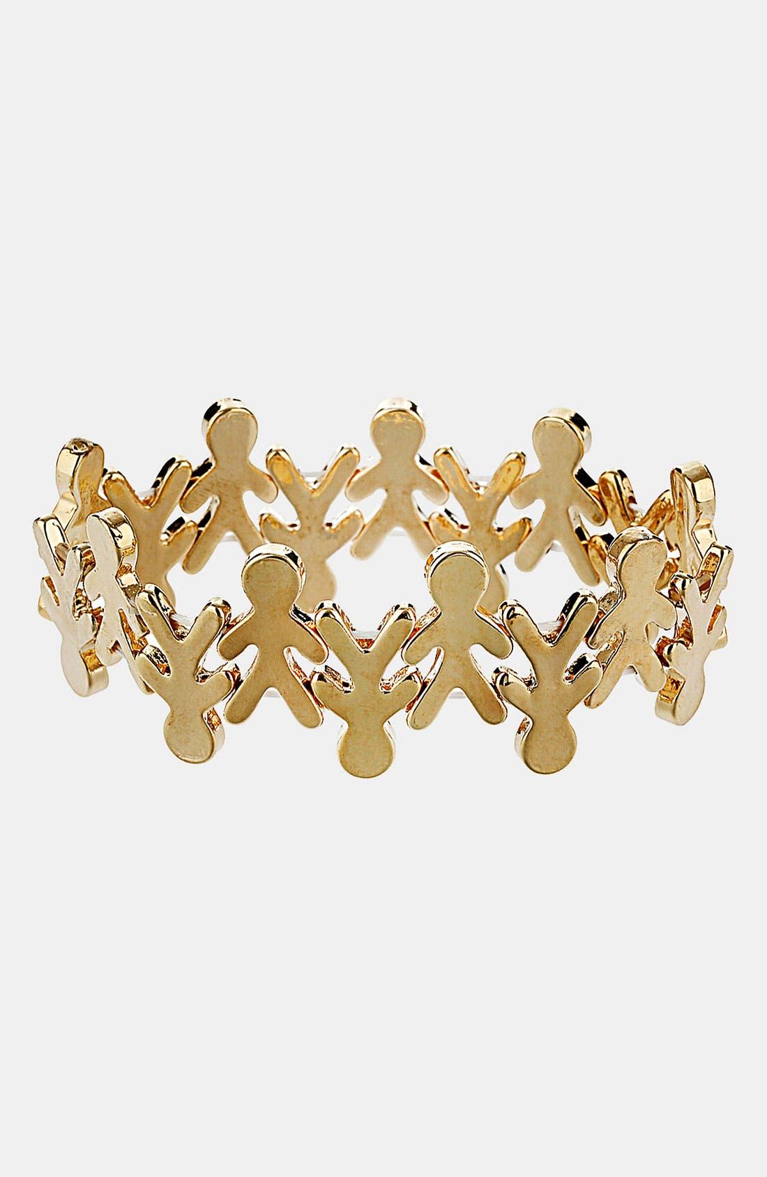 Alternate Image 1 Selected - Topshop 'People' Stretch Bracelet