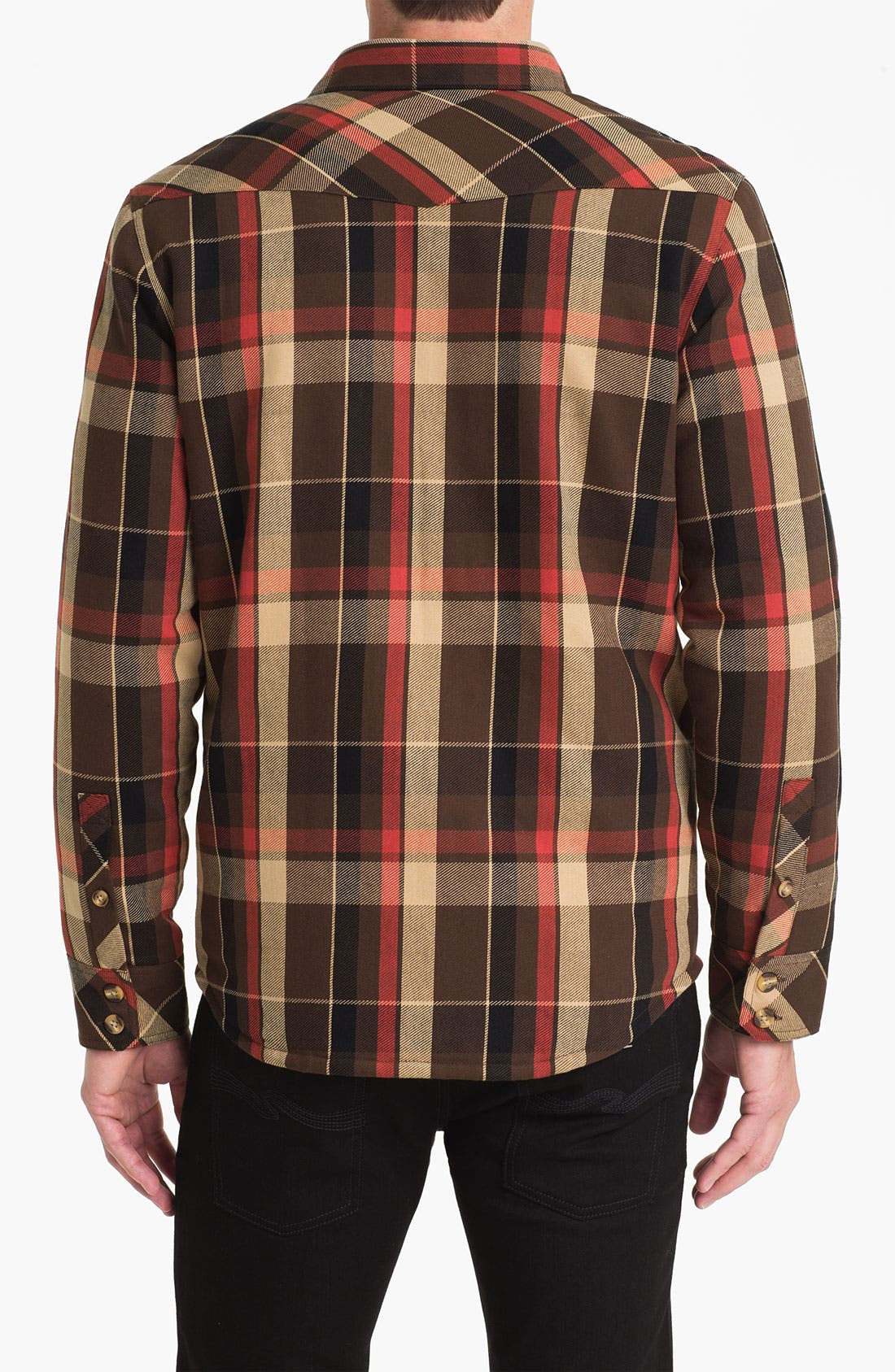Alternate Image 2  - Public Opinion Plaid Twill Western Shirt