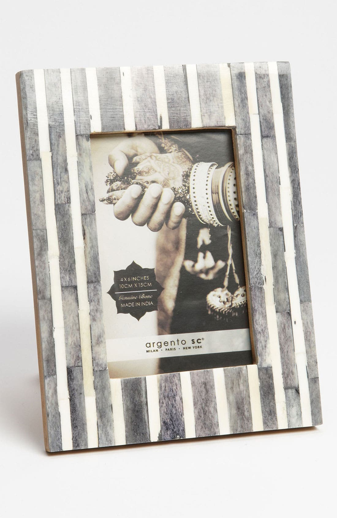Alternate Image 2  - Pinstripe Picture Frame (4x6)