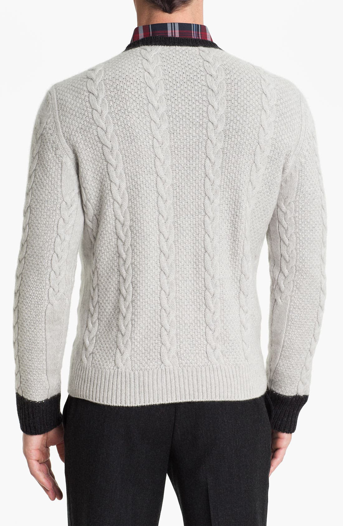 Alternate Image 2  - Fausto Reali Vannucci Cable Knit Wool & Cashmere Sweater