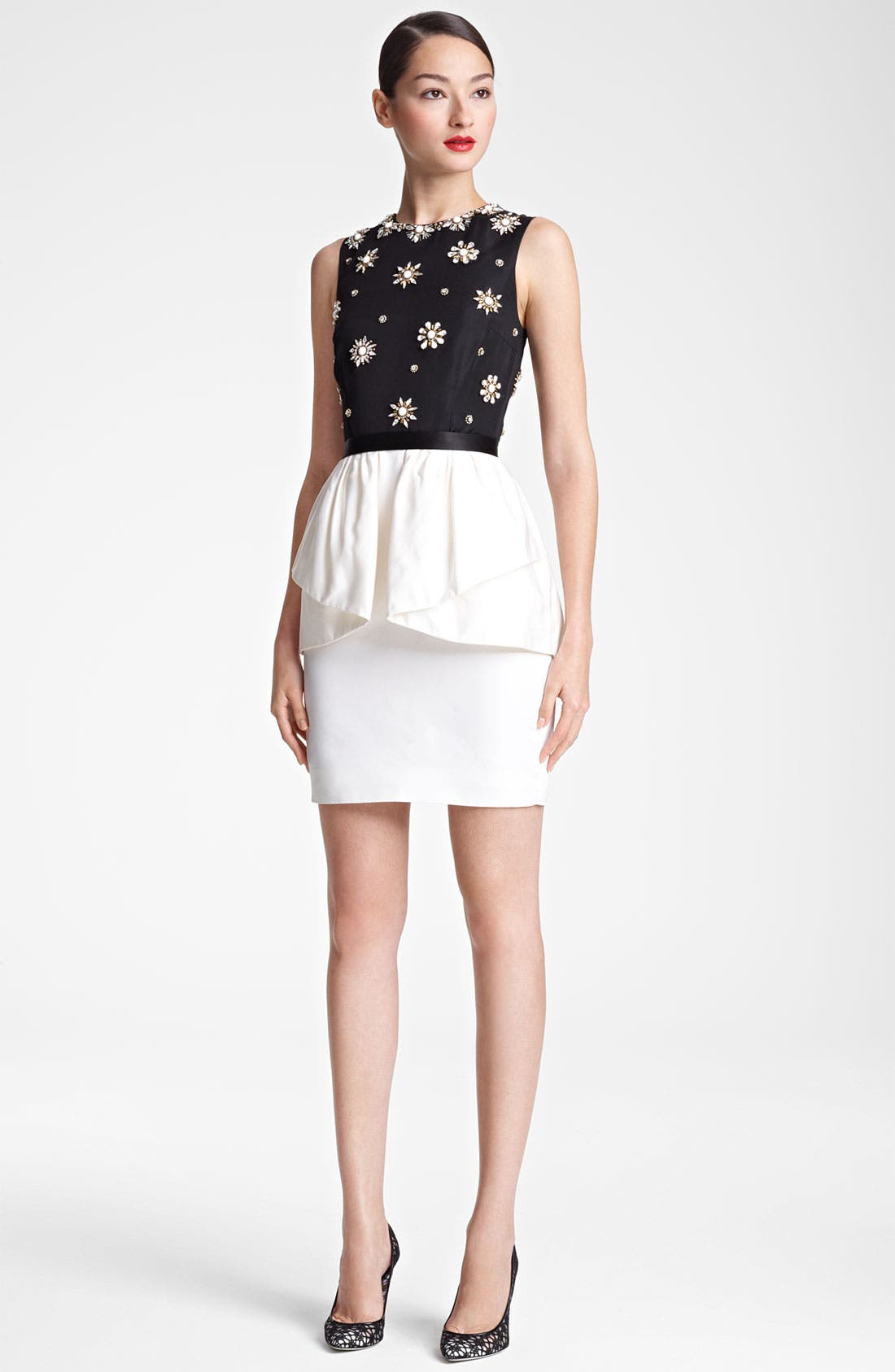 Alternate Image 1 Selected - Jason Wu Embroidered Peplum Sheath Dress