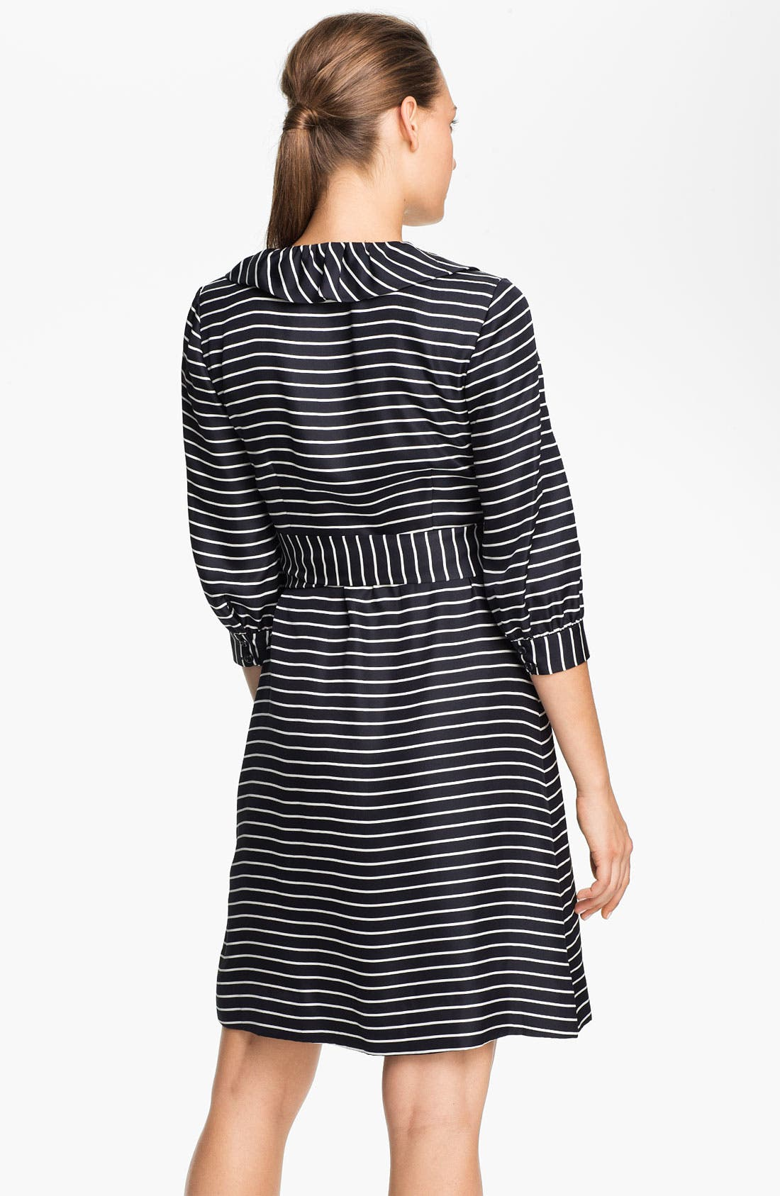 Alternate Image 2  - kate spade new york 'daniella' stripe silk wrap dress