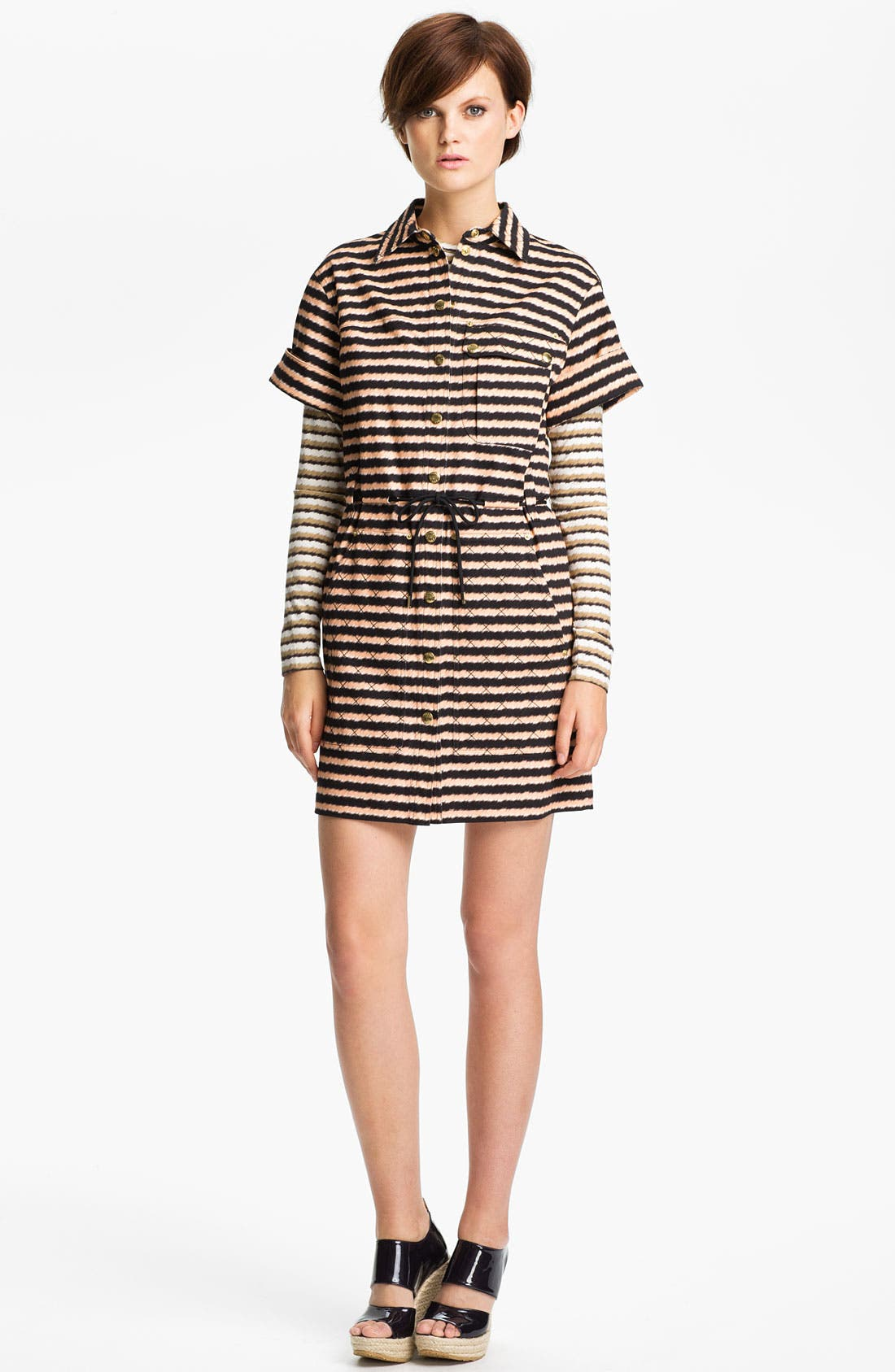 Alternate Image 1 Selected - KENZO Stripe Stretch Cotton Shirtdress
