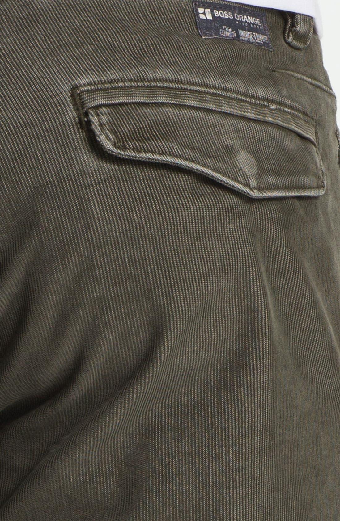 Alternate Image 3  - BOSS Orange Slim Fit Corduroy Pants