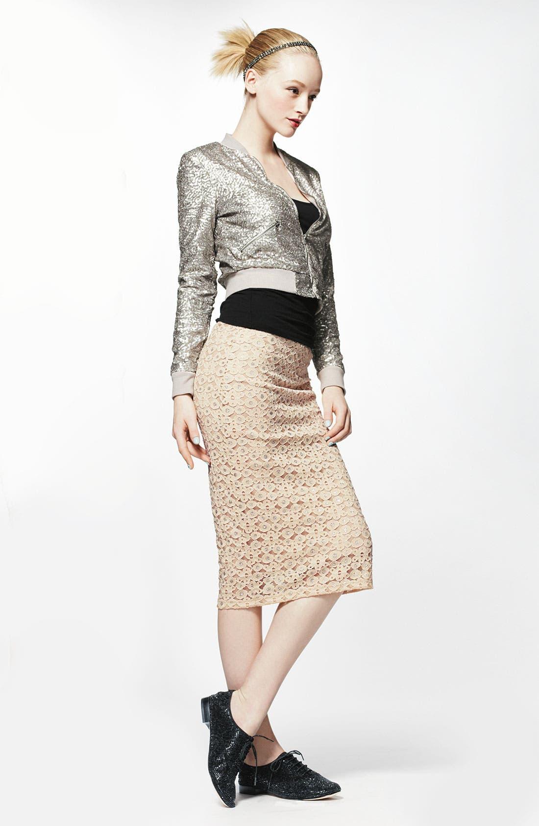 Alternate Image 2  - h.i.p. Lace Midi Skirt (Juniors)