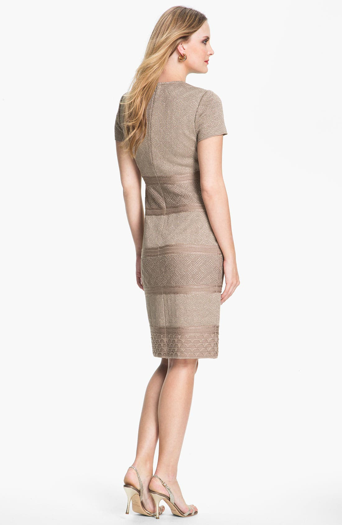 Alternate Image 3  - St. John Collection Textural Stripe Dress