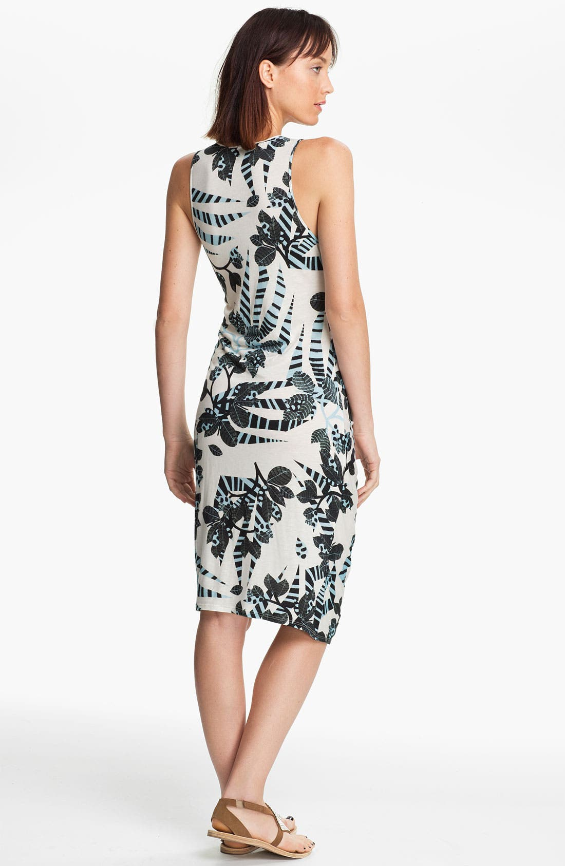 Alternate Image 2  - Thakoon Carbon Copy Gathered Zebra Print Tank Dress