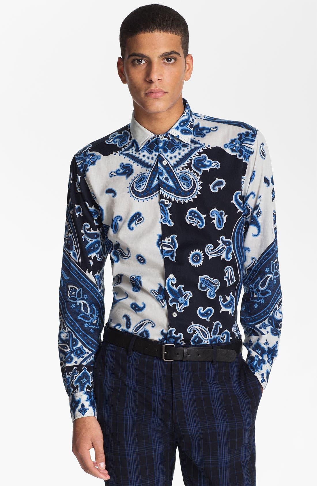 Alternate Image 1 Selected - Etro 'Camicia Tom Foulard' Paisley Print Cotton Shirt