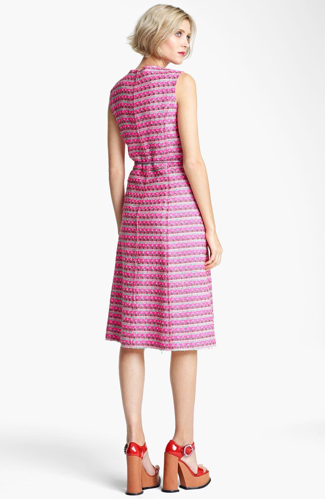 Alternate Image 2  - MARC JACOBS Belted Tweed Stripe Dress