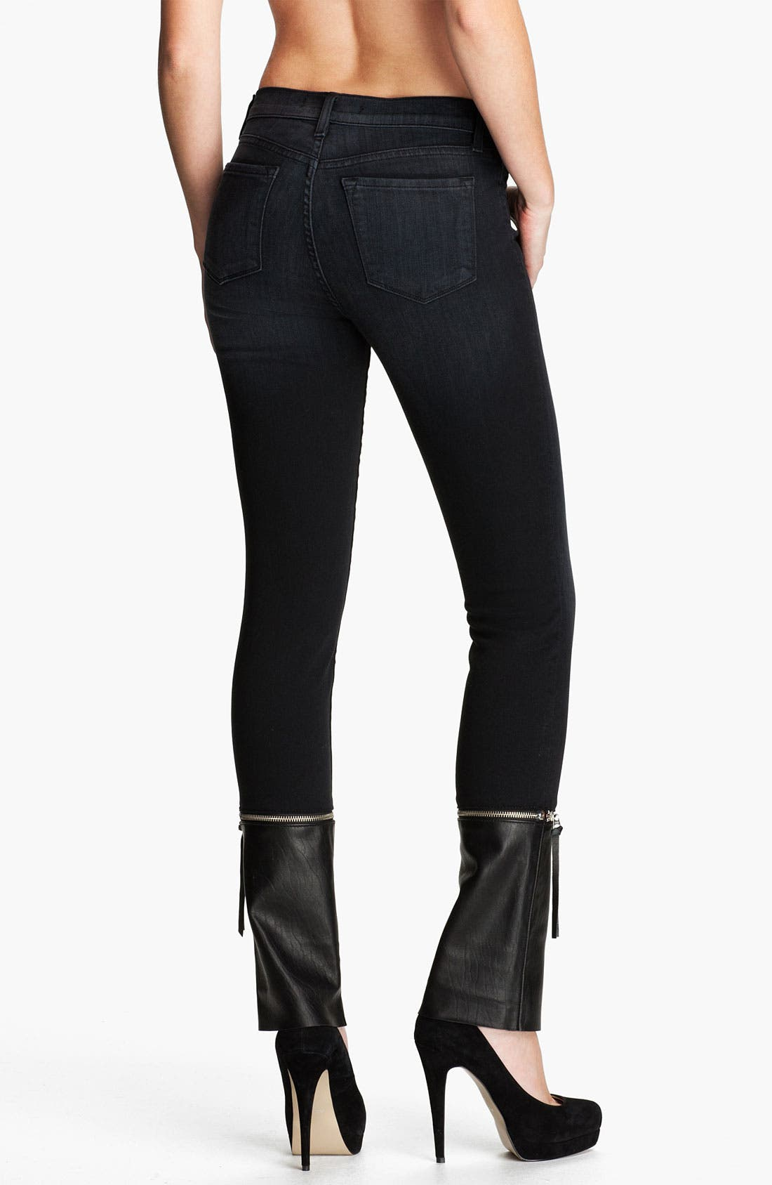 Alternate Image 2  - J Brand Denim & Leather Skinny Pants