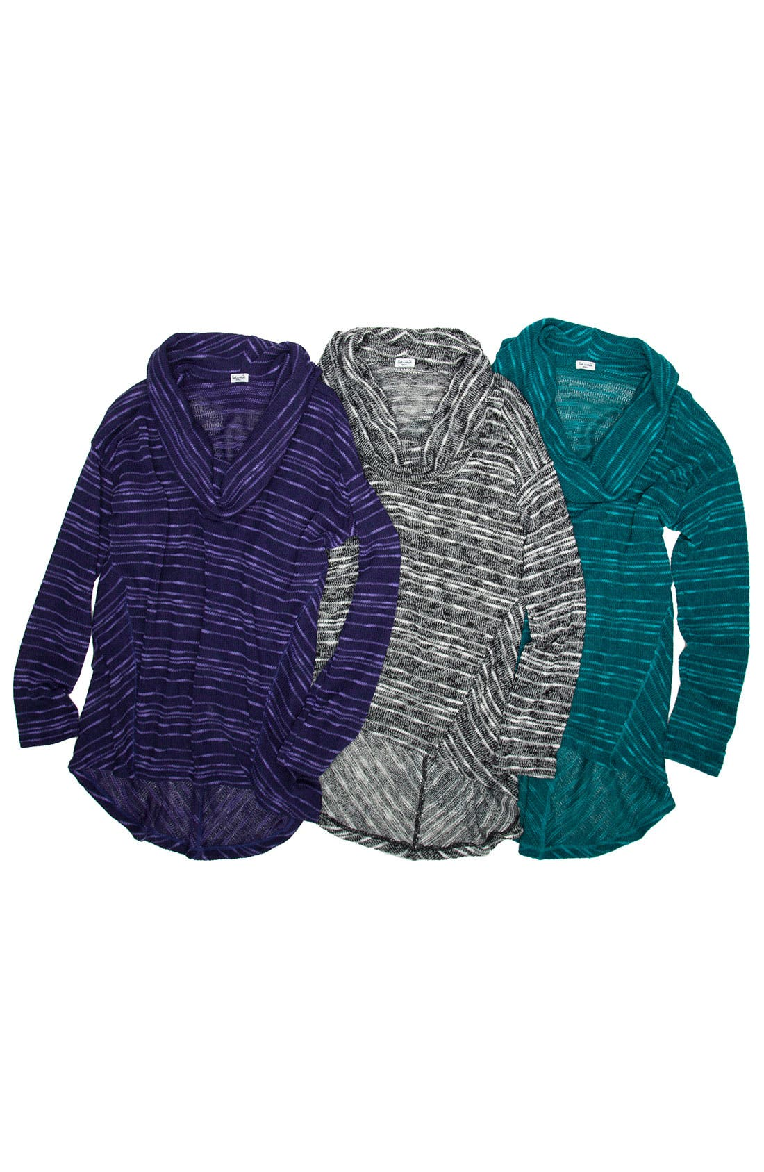 Alternate Image 5  - Splendid Stripe Cowl Neck Sweater