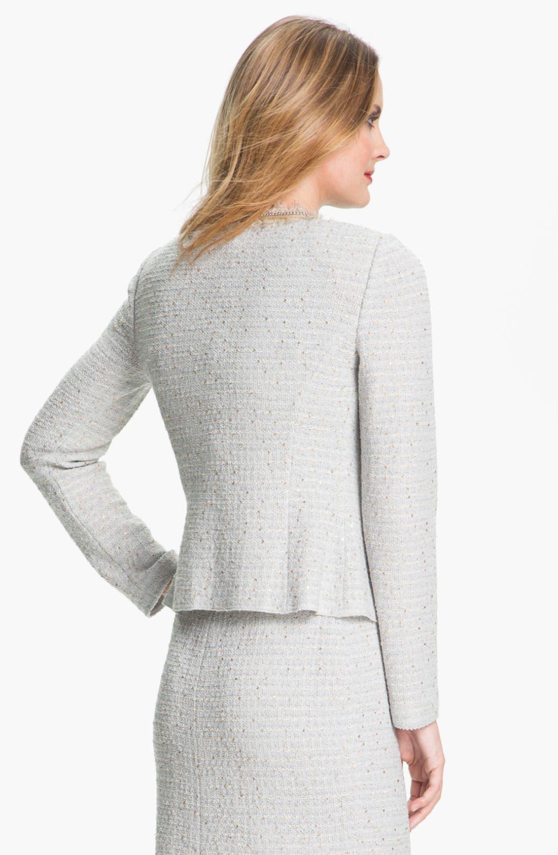 Alternate Image 3  - St. John Collection Sequin Ice Tweed Knit Jacket