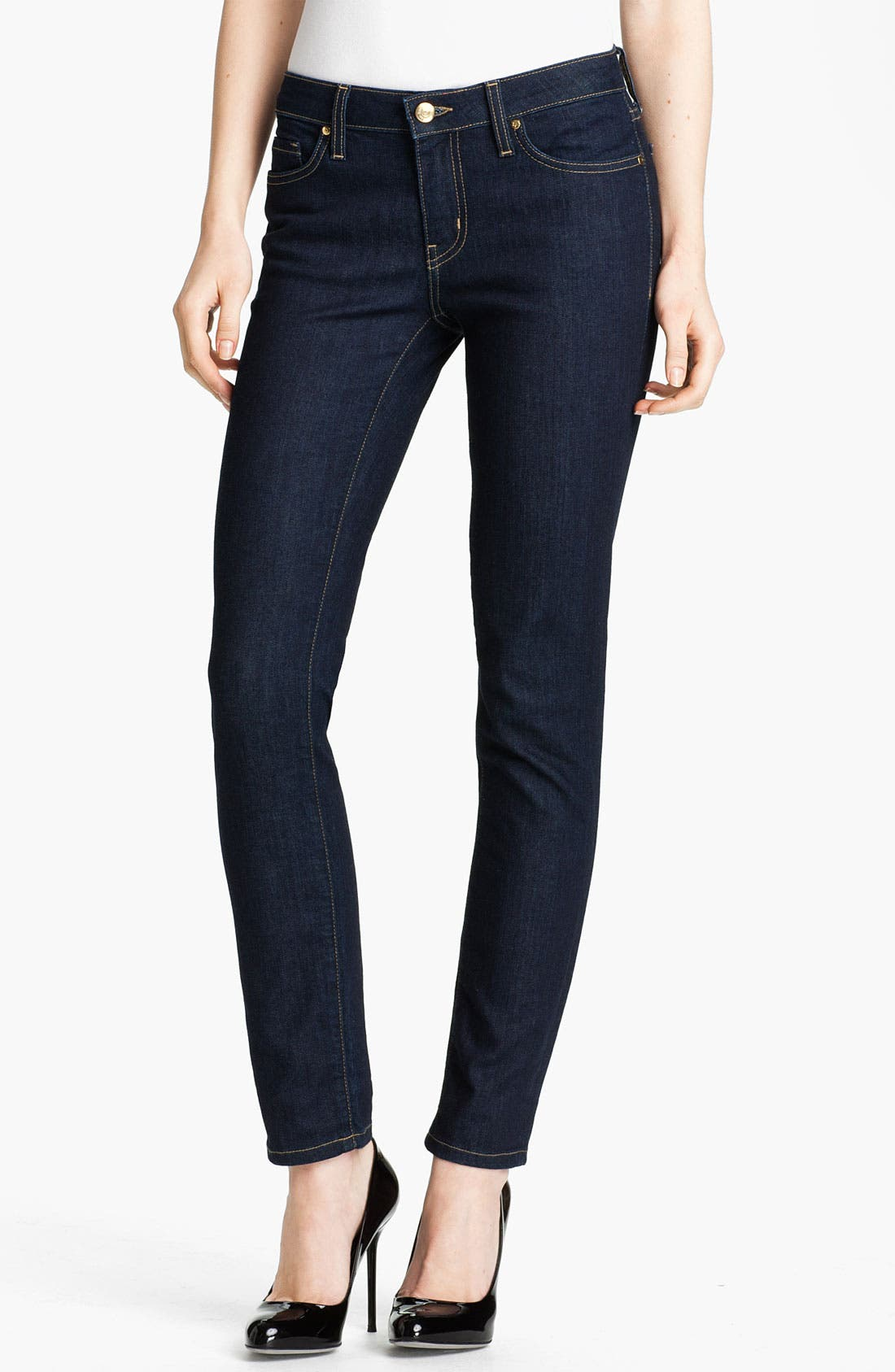 Alternate Image 1 Selected - kate spade new york 'broome street' skinny jeans (Indigo Wash) (Online Only)