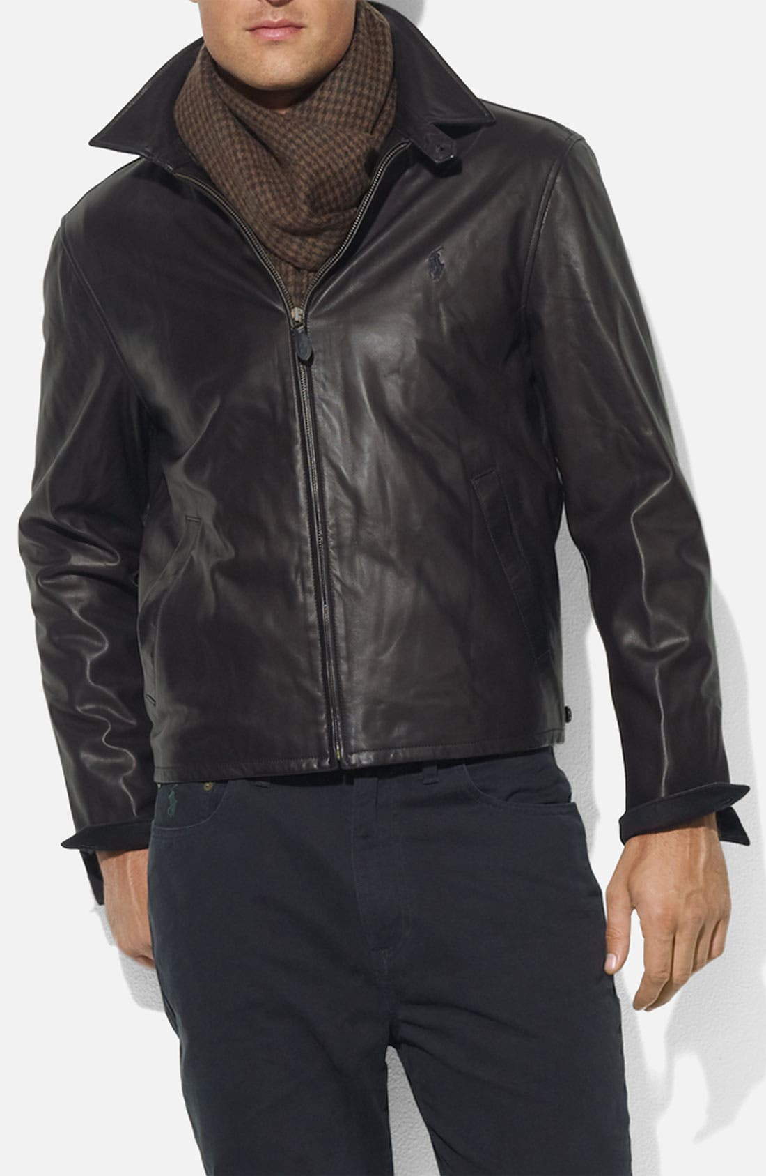 Alternate Image 1 Selected - Polo Ralph Lauren Leather Jacket