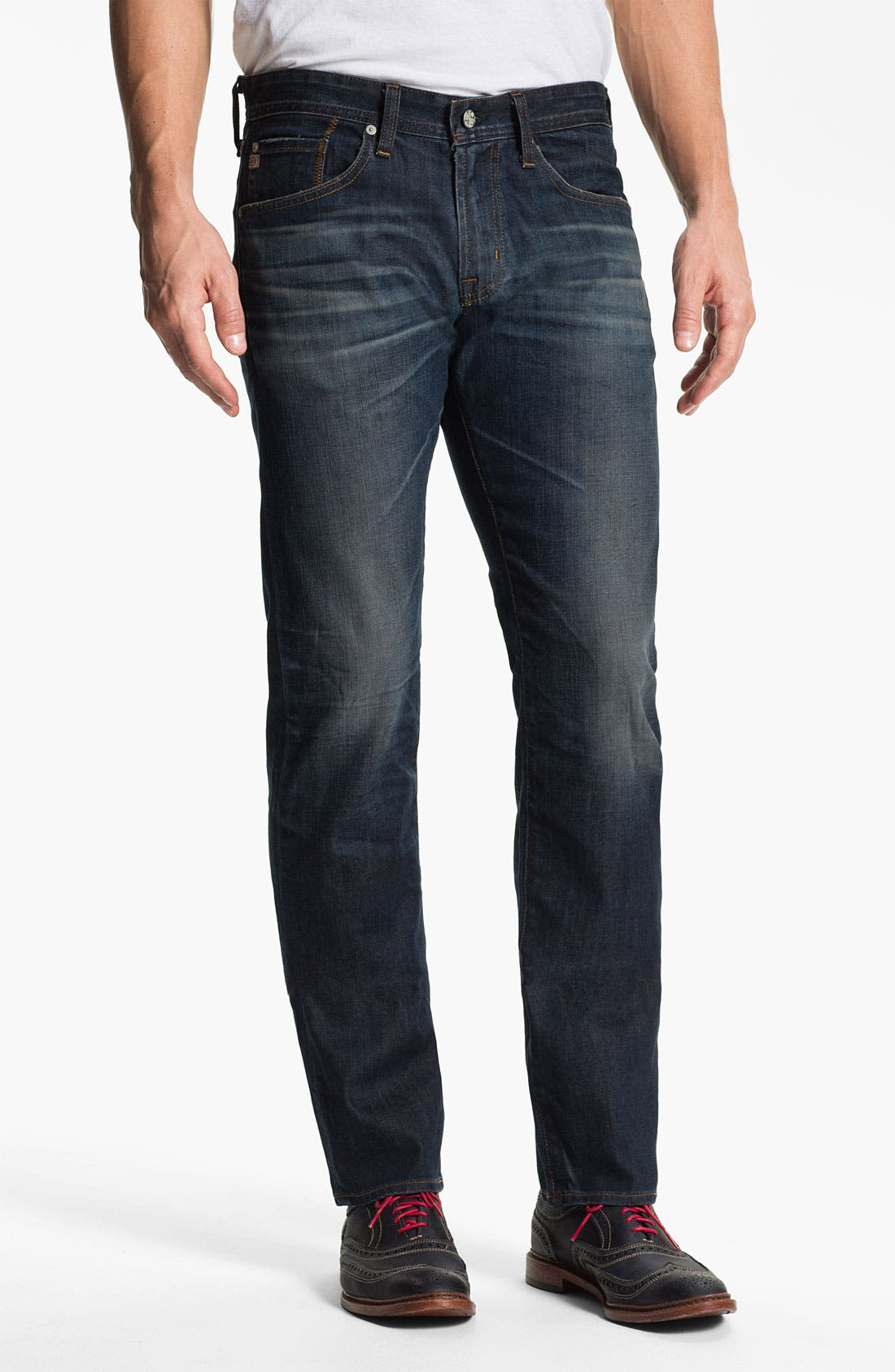 Alternate Image 1 Selected - AG Jeans 'Matchbox' Slim Straight Leg Jeans (4 Year Matte)
