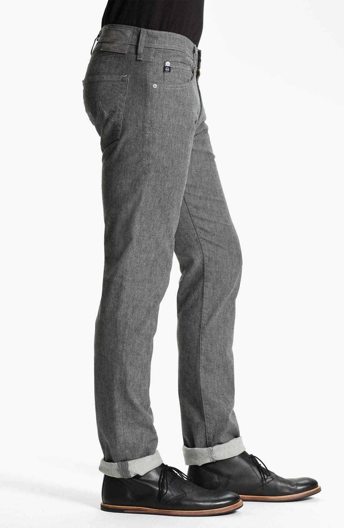 Alternate Image 3  - AG Jeans 'Matchbox' Slim Straight Leg Jeans (Tweed Grey)
