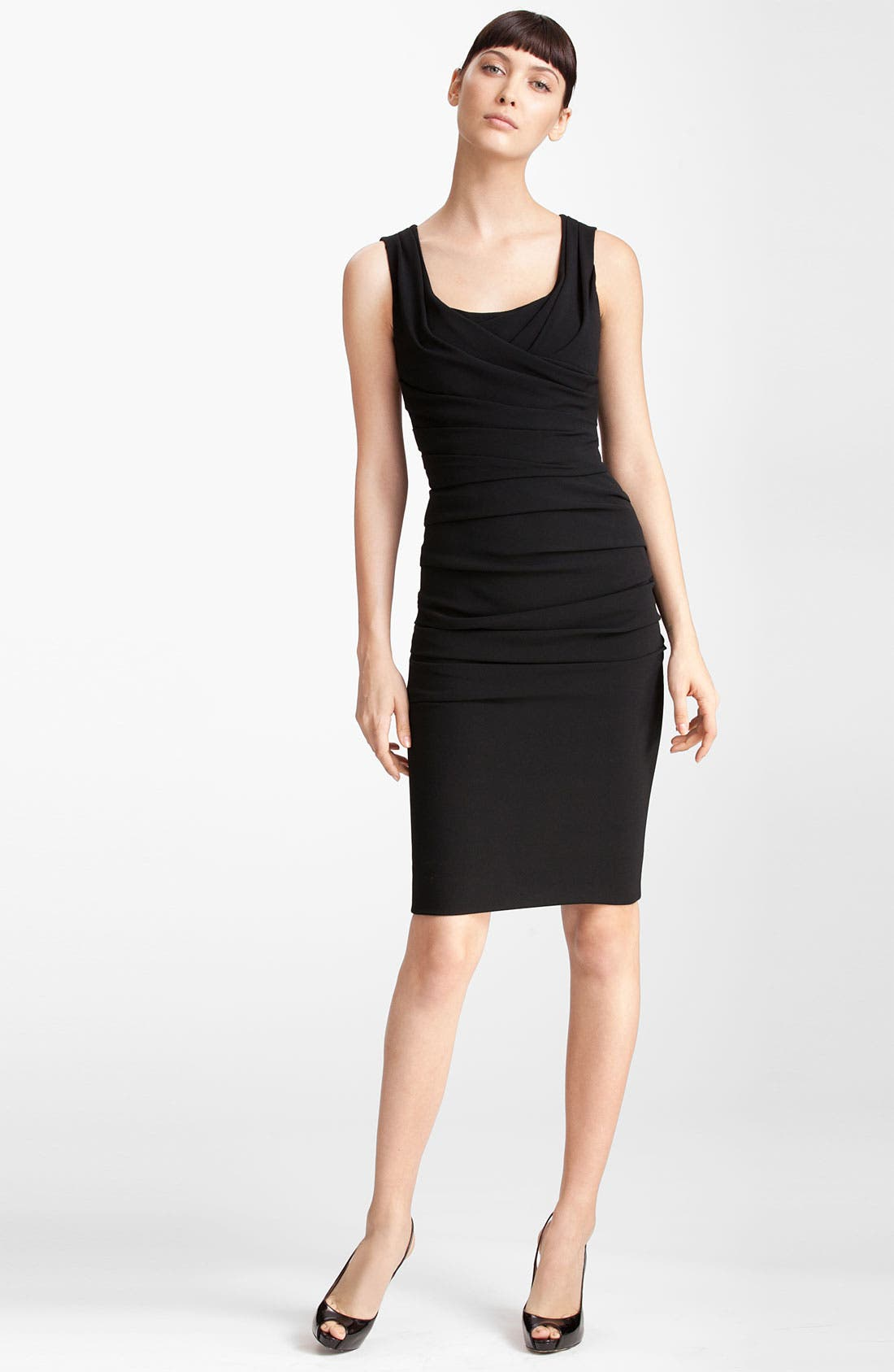 Main Image - Dolce&Gabbana Ruched Sleeveless Stretch Cady Dress