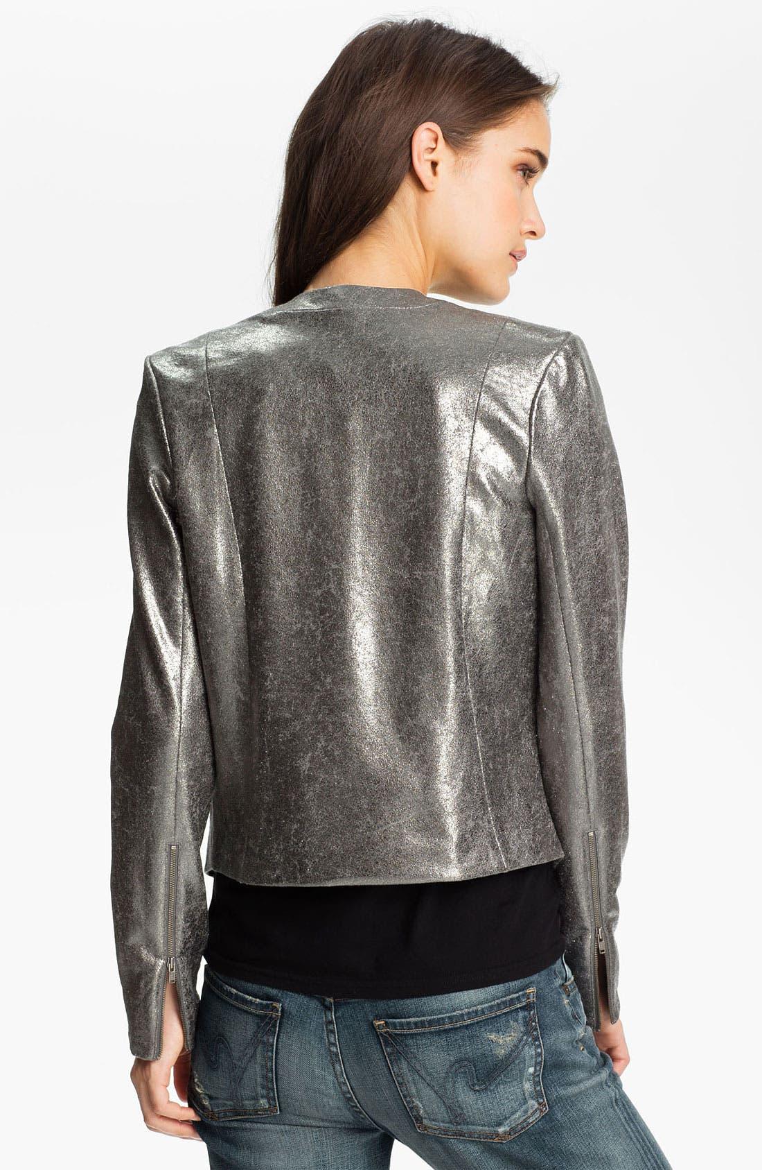 Alternate Image 2  - Trouvé Metallic V-Neck Jacket