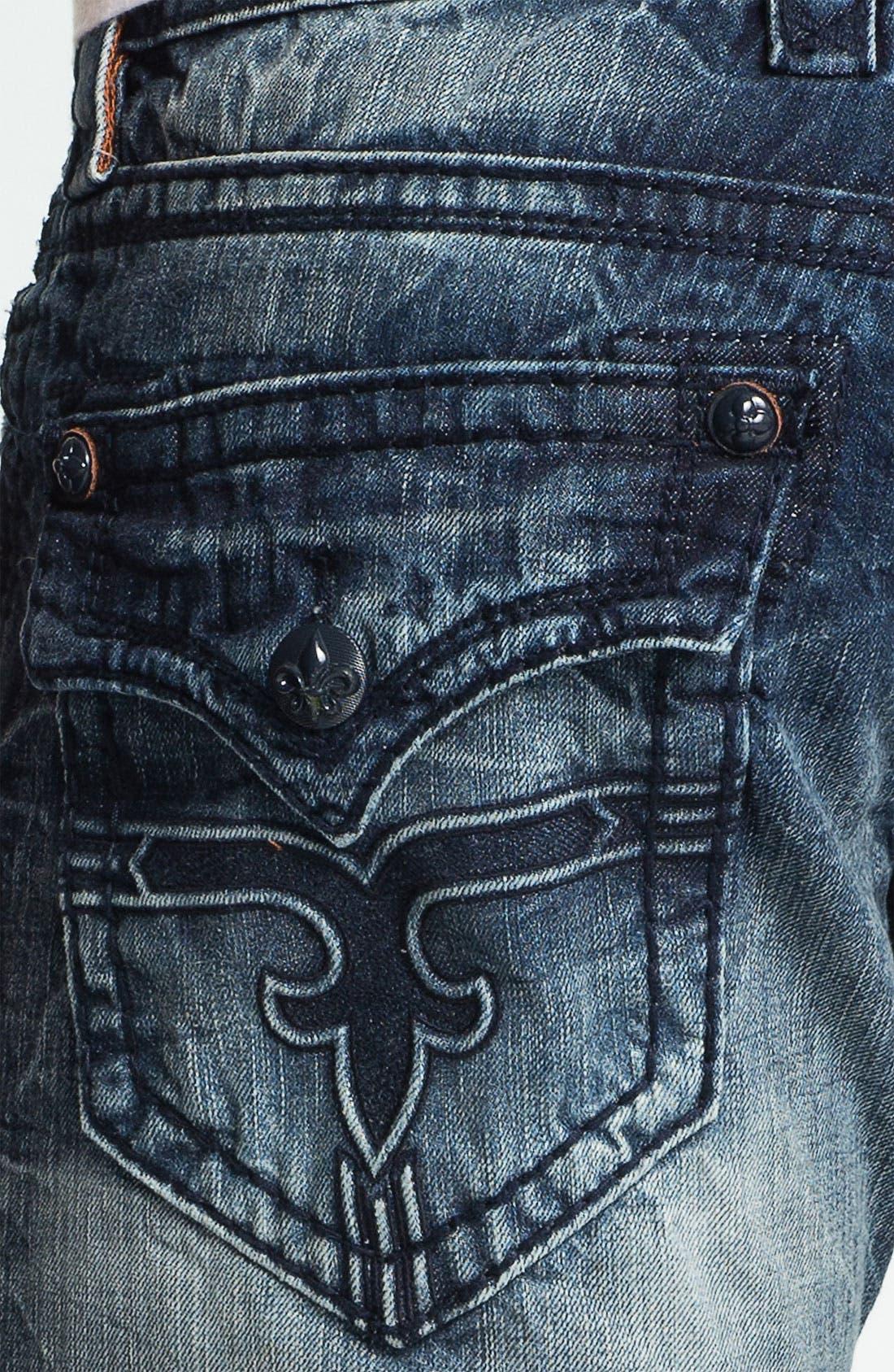 Alternate Image 4  - Rock Revival 'Dain' Straight Leg Jeans (Light Blue)