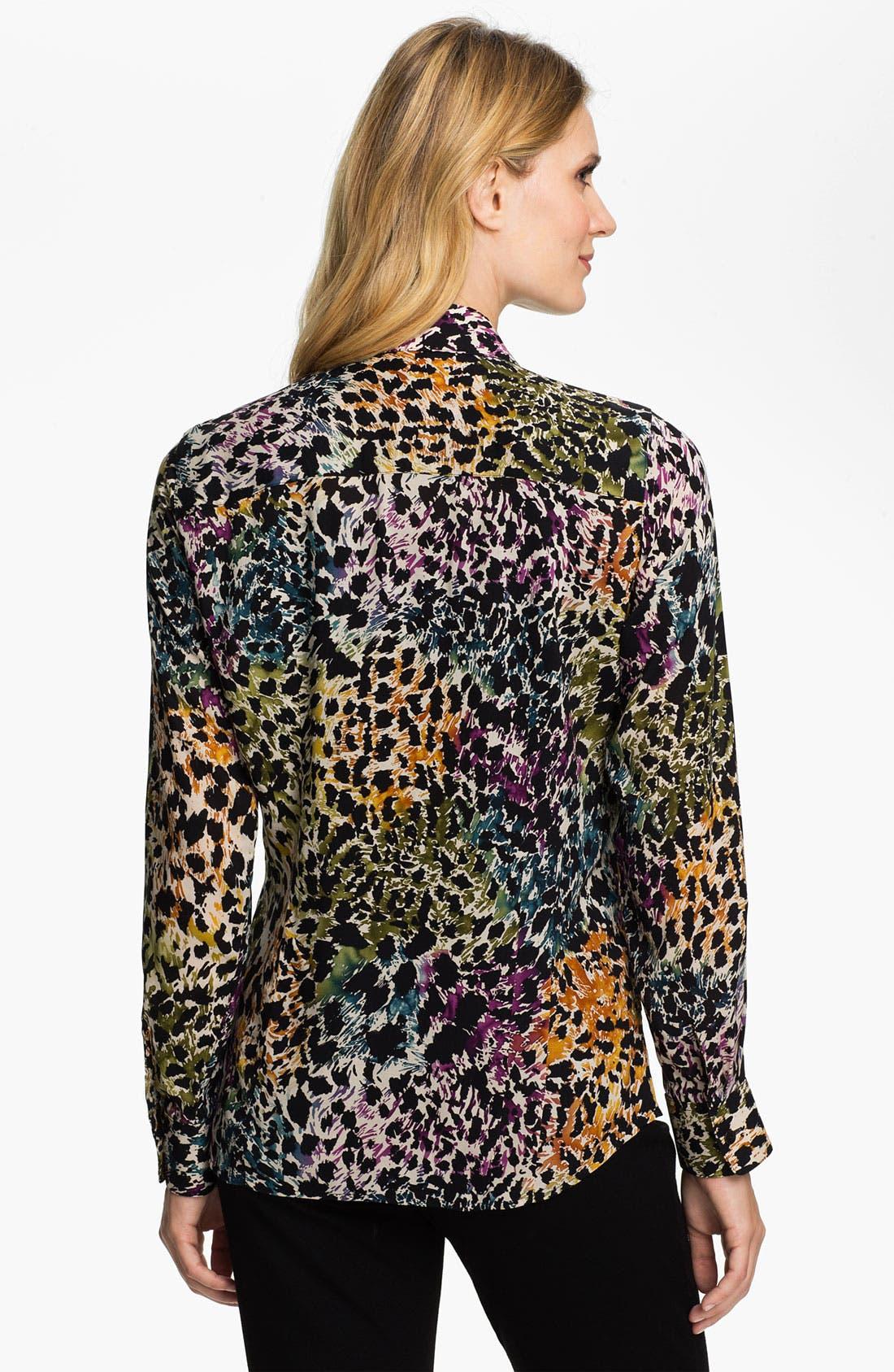 Alternate Image 2  - Foxcroft Distressed Animal Print Shirt