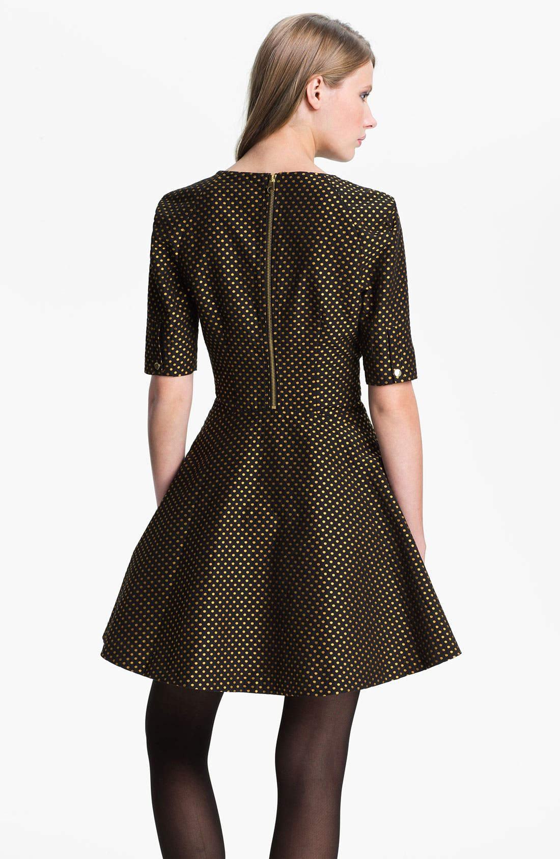 Alternate Image 2  - Ted Baker London Jacquard Fit & Flare Dress
