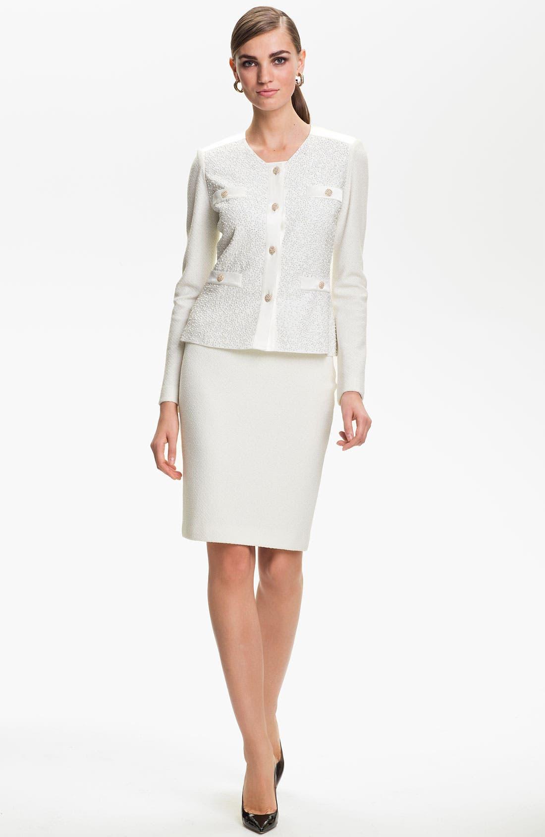 Alternate Image 2  - St. John Collection Cosmopolitan Tweed Pencil Skirt