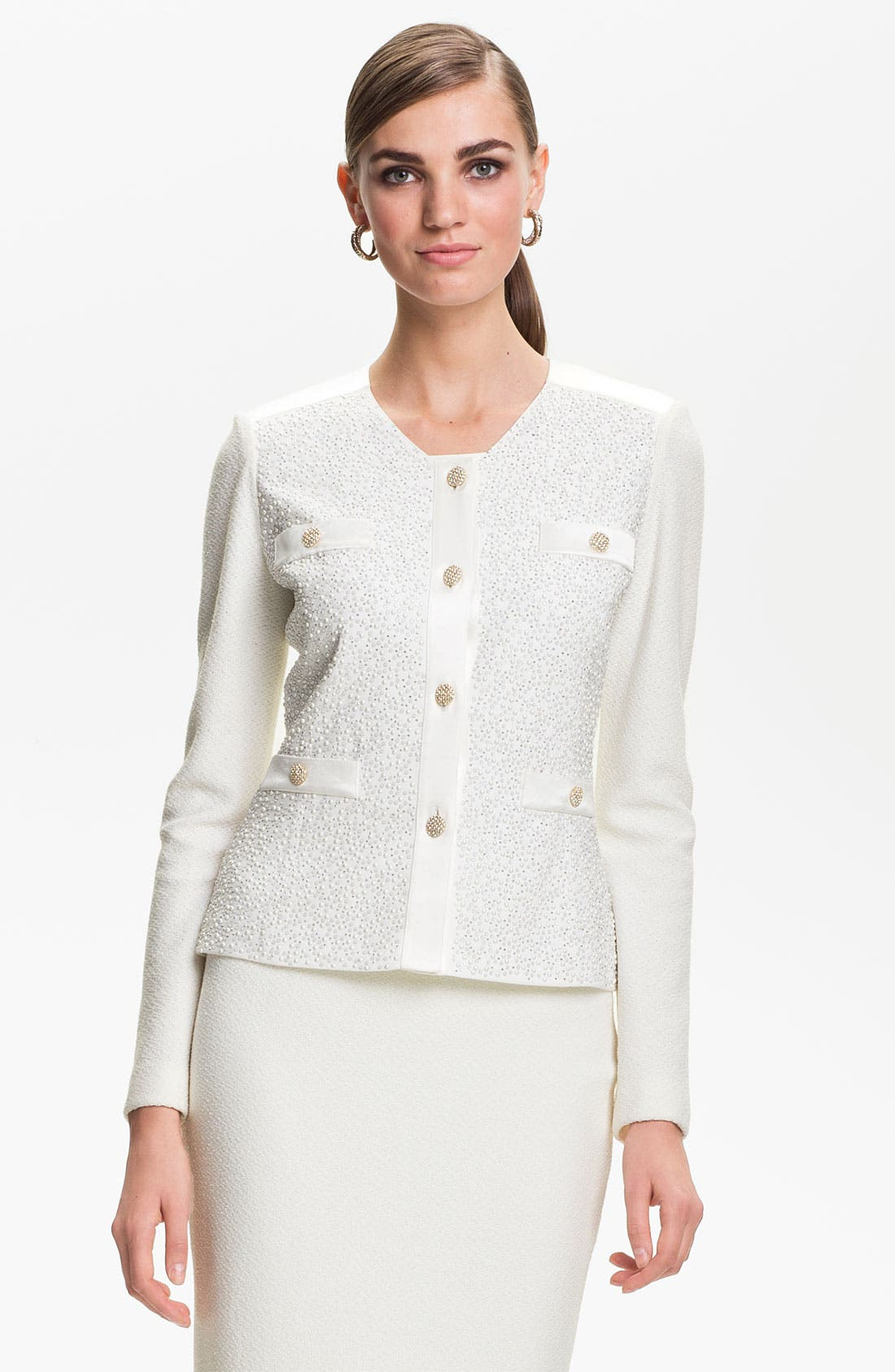 Main Image - St. John Collection Cosmopolitan Tweed Jacket