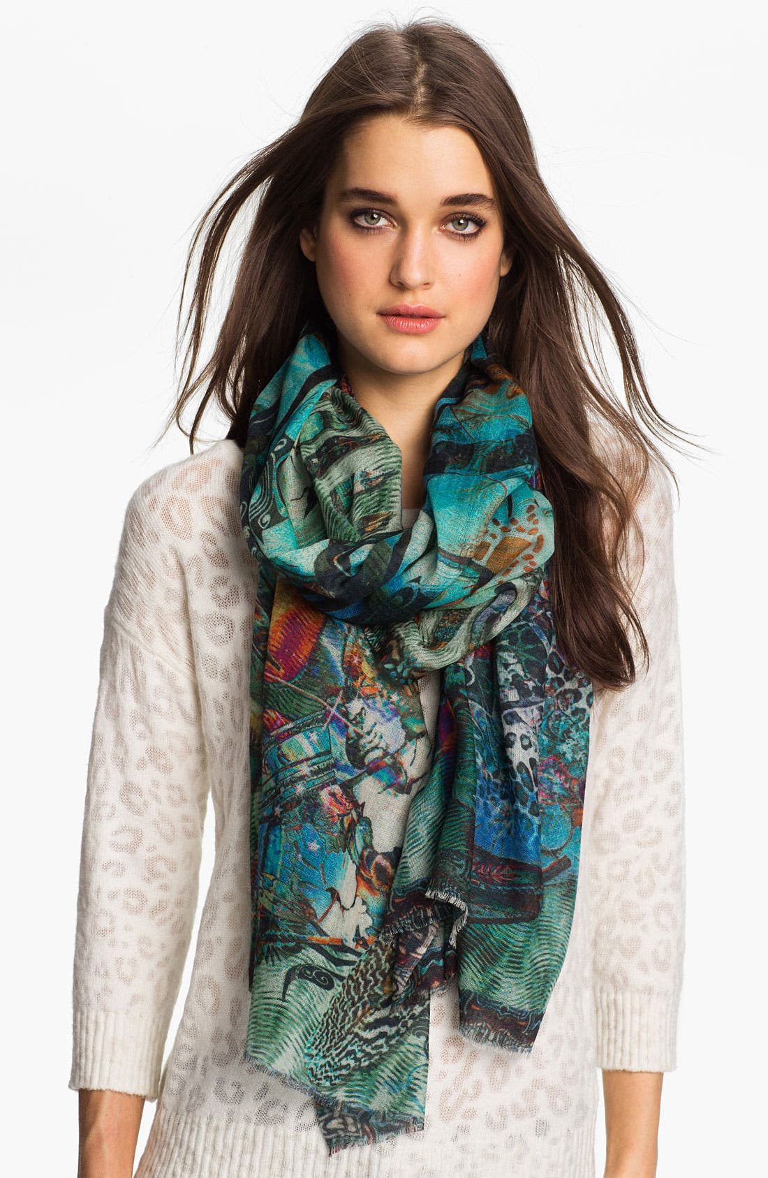 Alternate Image 1 Selected - Shawlux 'Cancer' Cashmere & Silk Scarf