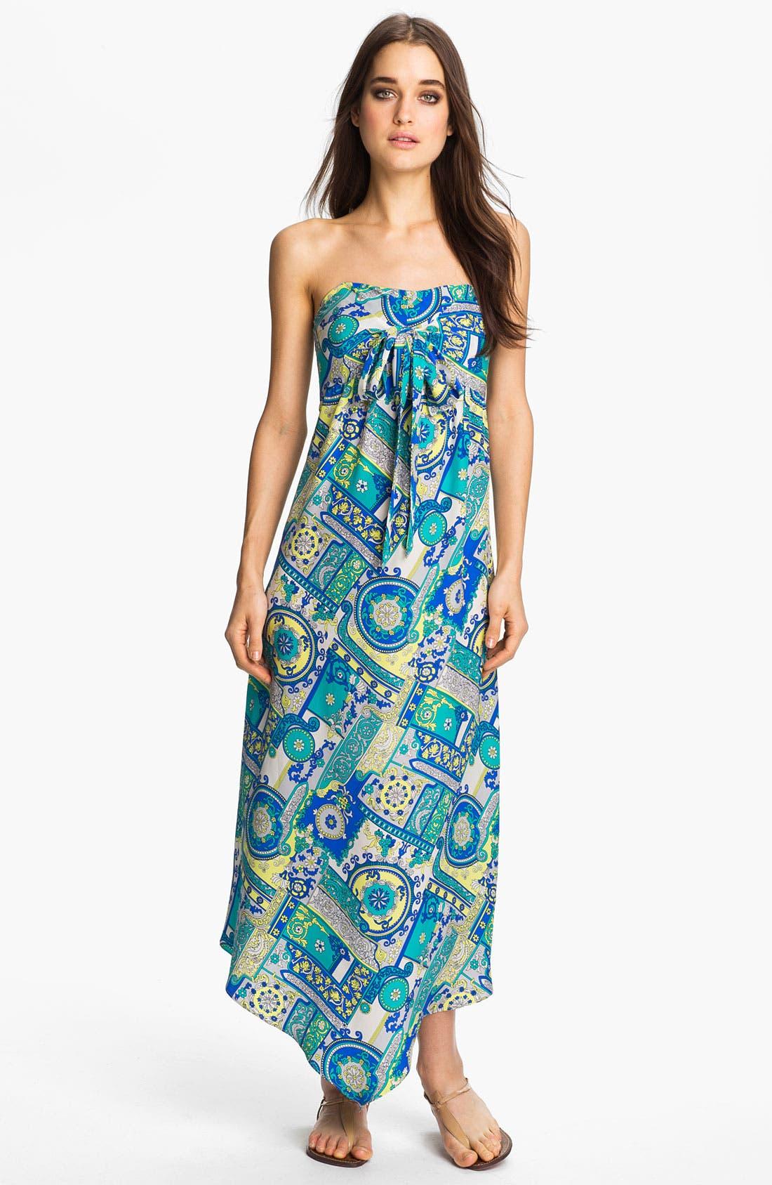 Main Image - ALICE & TRIXIE 'Savannah' Convertible Tie Silk Maxi Dress