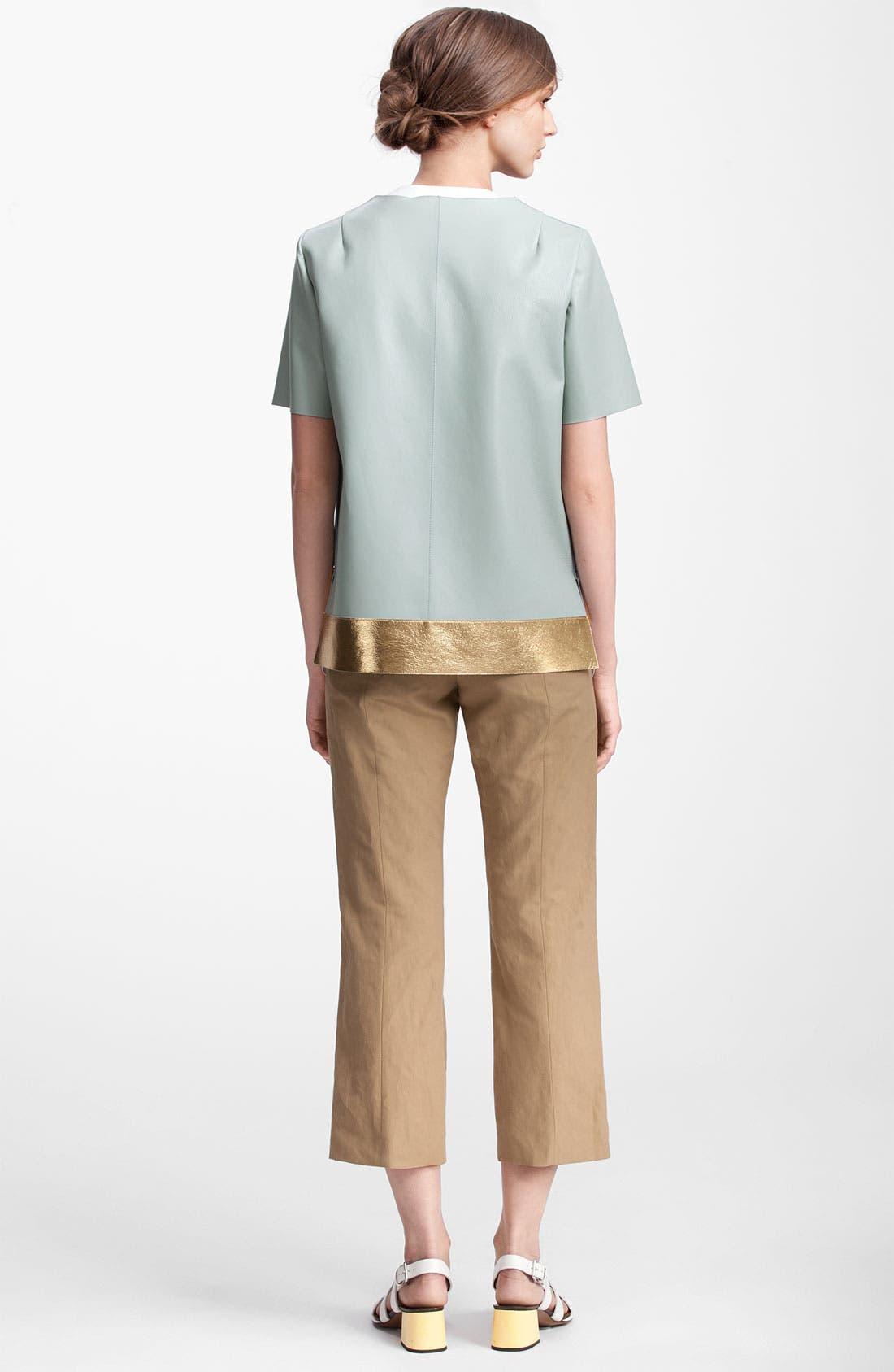 Alternate Image 2  - Marni Edition Gold Trim Lambskin Leather Coat