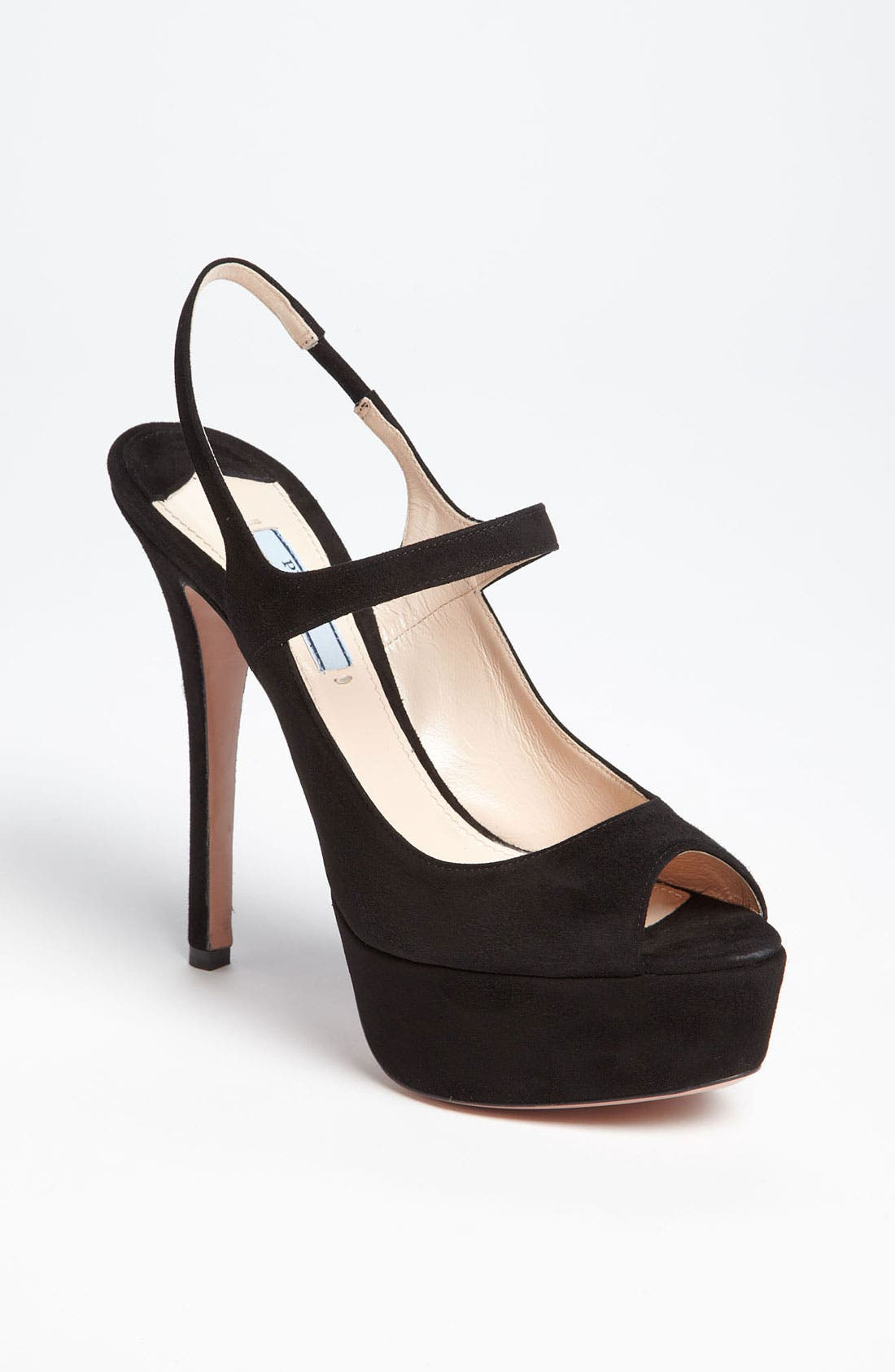 Alternate Image 1 Selected - Prada Peep Toe Slingback Sandal