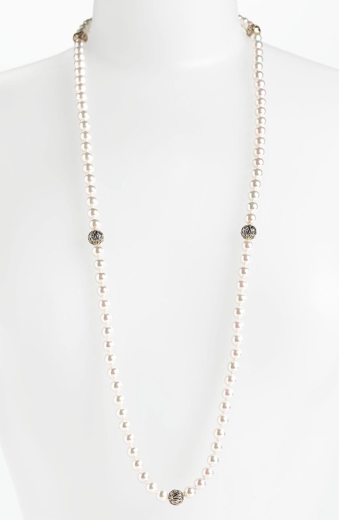 Main Image - Majorica 8mm Pearl Endless Rope Necklace
