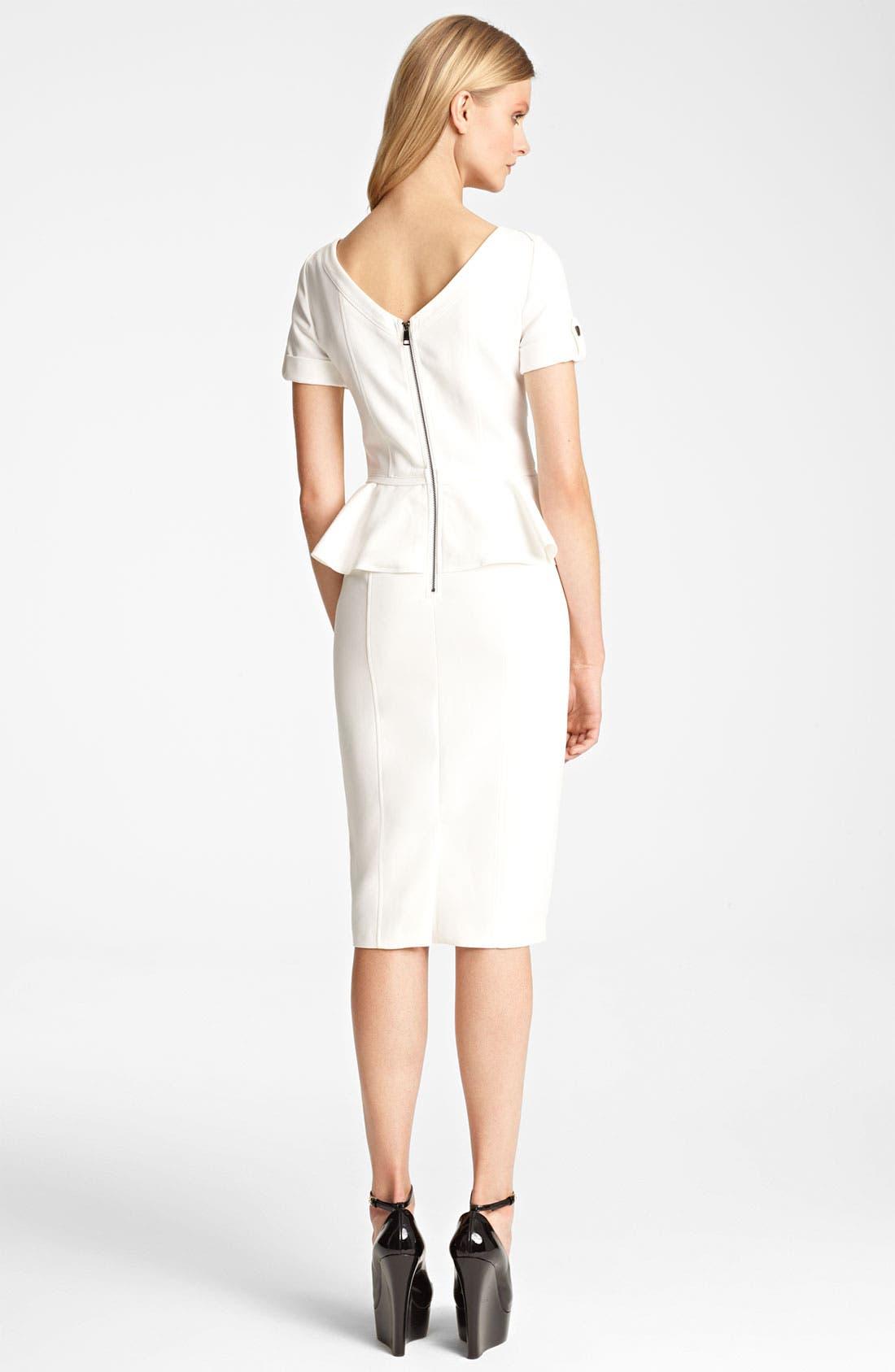 Alternate Image 2  - Burberry London Peplum Dress