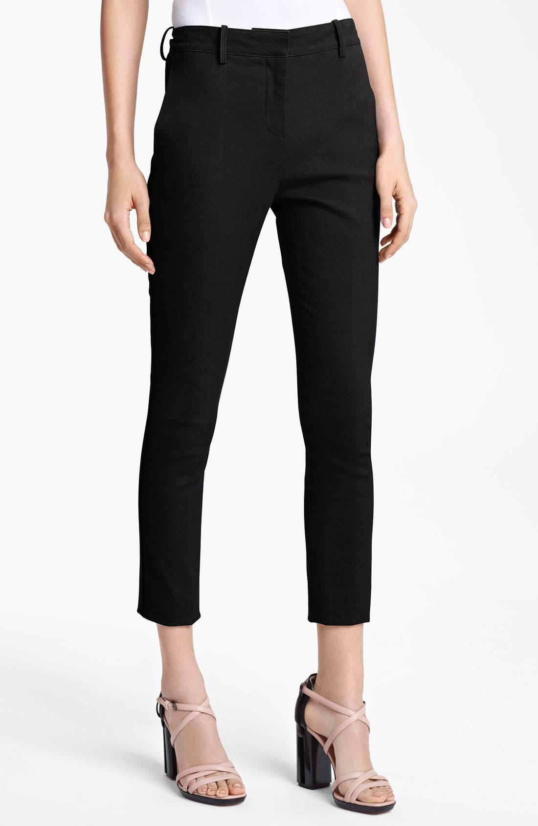 Alternate Image 1 Selected - Reed Krakoff Compact Canvas Crop Pants