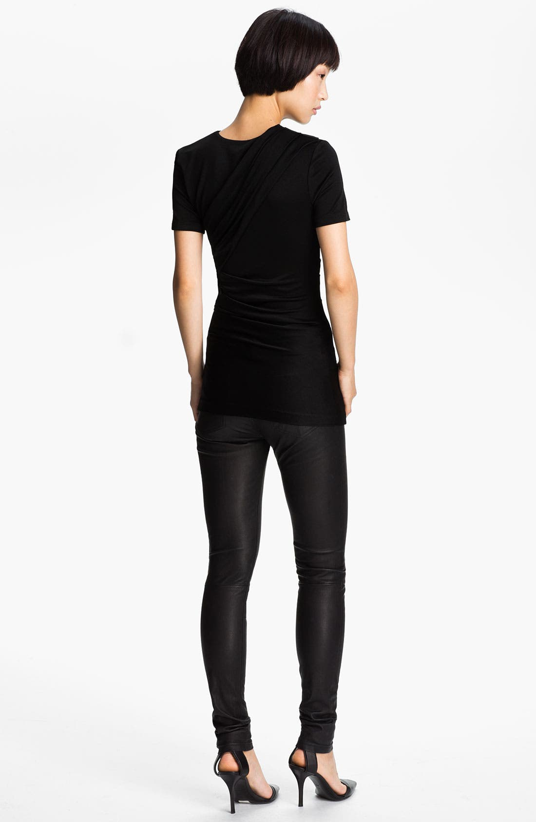 Alternate Image 2  - T by Alexander Wang Piqué Double Knit Tee
